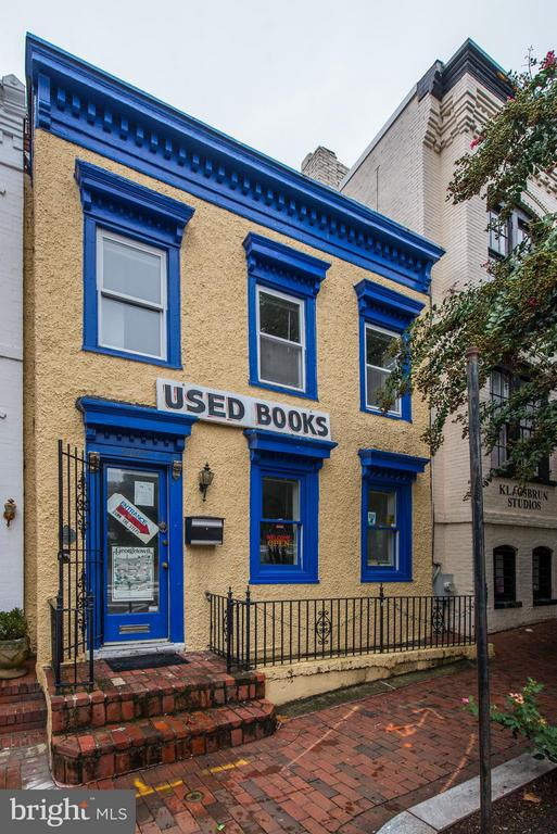 "Live and work in historic Georgetown. Wide-front townhouse  with street views from Wisconsin Ave. Zoned MU4.Upper floors used as a residence.   Lower level used as a bookstore.   Located across from Book Hill and adjacent to the vibrant Book Hill retail community.  Offered in ""as is""condition."