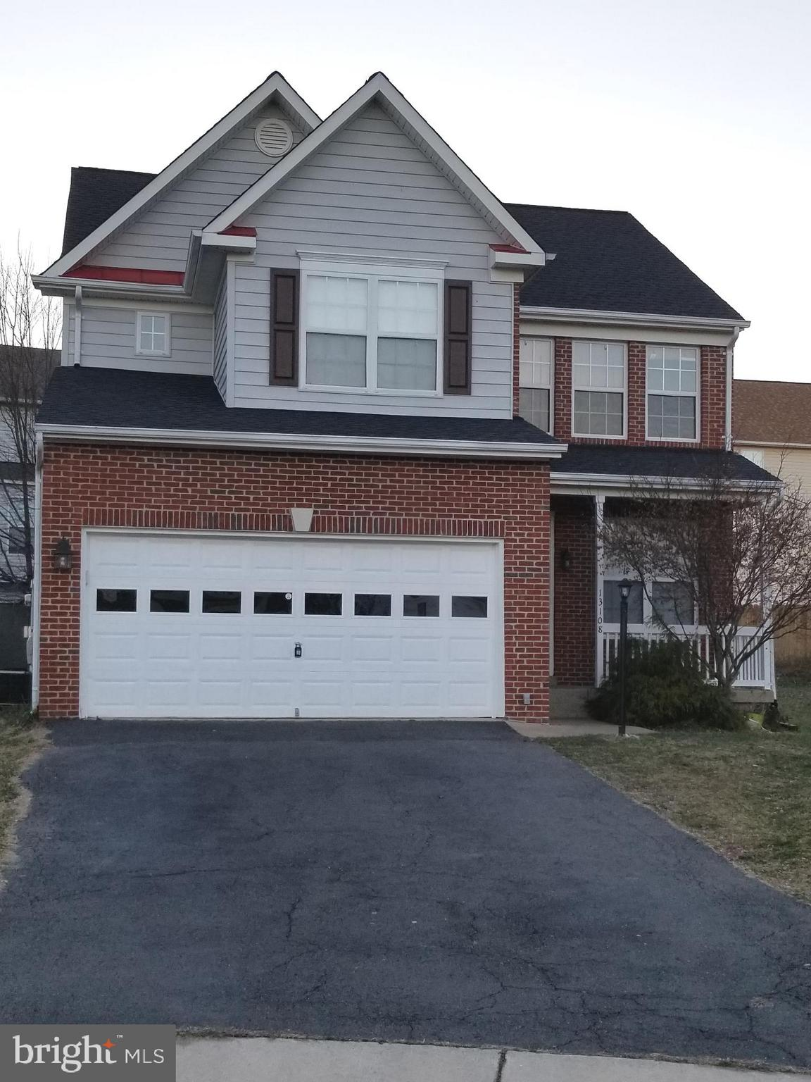 Back due to buyer financing fell thru pending release. Light filled open floor plan upper levels.4BR with 2 Full Bath in upstairs a nice brick front Colonial with walkup basement. Main level has Living, Dining, Kitchen with space for table, family room with Fire place and half bath. This home has a rec. room full bath and other two rooms in basement. Master bath with Large soaking tub and separate shower, 2 car garages and front porch. This is a clean home with large backyard waiting for you! Owner is Real Estate Agent.New roof, New appliances, new garnet countertop, few years old master bath. Dual zone HVAC one unit is new.