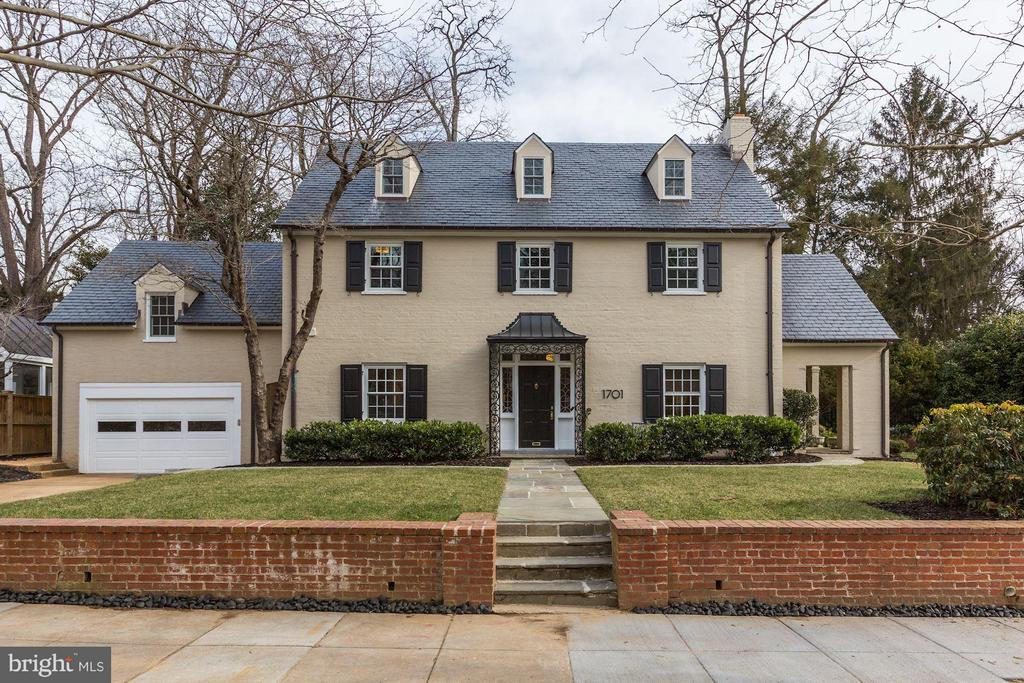 OPEN SUNDAY 3/24, 2-4PM! Beautifully sited on a large corner lot in beautiful COLONY HILL, 1701 Hoban Road NW is an elegant Boss & Phelps 1929 Colonial offering 5 Bedrooms and 5.5 Baths. This inviting home has been renovated with custom millwork, rich hardwood floors, and lovely finishes. Comprised of light-filled, generously sized rooms with large windows, the flowing floor plan is wonderful for entertaining. The flat backyard includes a lovely Patio and an In-Ground Pool surrounded by lush gardens. Attached and heated 2-Car Garage.