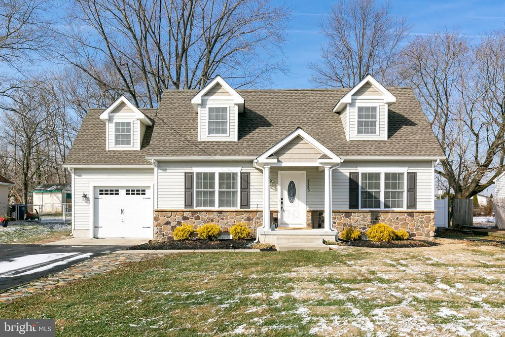 Model home, right out of a magazine.  This home has everything and more.  This home has been totally redone and awaits the new owner.  As you pull up you see the curb appeal to the white vinyl and stone cape cod.  Enter into the living room with gleaming hardwood floors, crown molding, chair rail, shadow boxing, and recessed lighting.  The grey walls, and plenty of natural sunlight make this a showplace.  The open floor plan leads to a kitchen with white cabinets, stainless appliances, tile floor, subway tile backsplash, and recessed lighting. More natural sunlight leading to a large eating area with hard wood flooring.  The third bedroom has been opened up to allow more living space.  The seller is willing to close this back up for the original third bedroom that is situated on the main level. A full bath on the main living space complete the first floor. The second level of the home has a large master suite with a walk in closet, and stunning master bath.  The laundry and additional bedroom and full bath complete the second floor. The basement can give you additional living space. There is plenty of room for utilizing as an office, family room, and additional sleeping area.  This is close to Route 295, 541 by pass, and major shopping. Also, easy access to the military base.  Make sure to put this on your list. It will not disappoint.