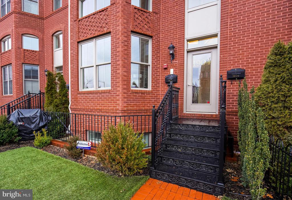 NEW LISTING, open Sunday 1-4 pm. This  Logan/U St. 2013, quality-built homefeatures 2350 sq. ft. of living space as well as 700 + sq. ft. private roof top outdoor deck space. This condo, town home style, lives like a large home with it's 20 ft expansive width, ample ceiling height and expansive,flexible open floor plan.  Gated front yard space shared with vestibule for inclement weather, package delivery and added security are same level as the two story entry foyer, built in garage and additional outdoor tandem parking space. . Wide plank dark walnut wood flooring run throughout the home, custom 51 inch wood cabinetry,  recessed lighting, single slab granite and Carrera marble flooring  tile, high end home automation system, Nest, alarm, and a really flexible floor plan with 3 bedrooms,and laundry all on the same level. The living room and dining spaces are 20 sq. ft. x 20 sq. ft.   space.  Butler~s pantry with a  U-Line  wine steward and  the impressive, 25 ft x 20 ft kitchen, family room and informal dining space on the other side of this  property. There is a  convenient same floor half bath around the corner.  Sub Zero Refrigerator, Viking 6 burner professional gas range, professional Bosch dishwasher and microwave, the home automation system and huge island, additional storage space below make this the perfect family or entertaining spaces.  .  The bright master suite facing Vermont is extra king sized with charming walk out bay top balcony space for morning coffee, 2 walk in closets with built ins, EnSuite sumptuous  master-spa bath with Carrera marble , 2 person walk in shower with bench, seamless glass entry, dual sinks and vanity space with tower for additional storage and a nice sized private water closet.  2 well equipped additional bedrooms, same floor, are at the opposite end of the hall, each with  flat screen tv's, double closets, built ins. The large side by side Electrolux washer and vented dryer, HVAC, Linen closets as well as the full main bath w