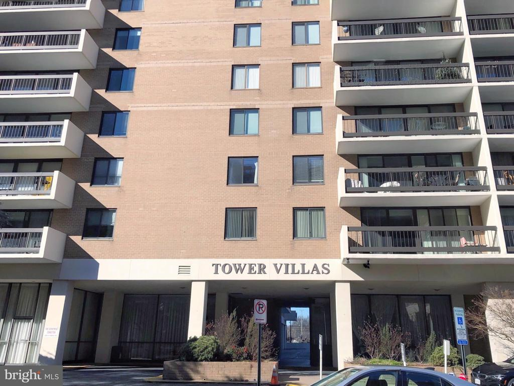OFFERS DUE 2/20/2019 5PM! ---- Newly updated 2 bed, 2 bath unit with approx. 1,400 sq-ft at Tower Villas in Arlington. Less than 2 minute walk (1.5 blocks) to Virginia Square-GMU Metro Station, and 5-7 minute walk to heart of Ballston. There is very little turnover at Tower Villas so this is a rare opportunity to pick up an absolutely pristine unit! The large balcony provides clear views of both the Washington Monument and Capitol.  Fireworks on the 4th of July would be perfect in this home! The monthly condo fee includes all utilities as well as cable TV. FIOS is available! The 24 hour lobby provides a safe and secure environment. Building is pet-friendly. Garage parking. Main living areas include NEW HW floors, kitchen tiles, granite counters, SS sink and appliances, fixtures, and cabinets. Baths have NEW tile floors, fixtures, mirrors, and master shower. NEW washer and dryer, doors, electric panel, air handler, lighting fixtures, and bedroom windows. Be sure to check out the 3D virtual tour for a walk-through of this beautifully updated property!  https://my.matterport.com/show/?m=E9VdLgwkKxE&brand=0