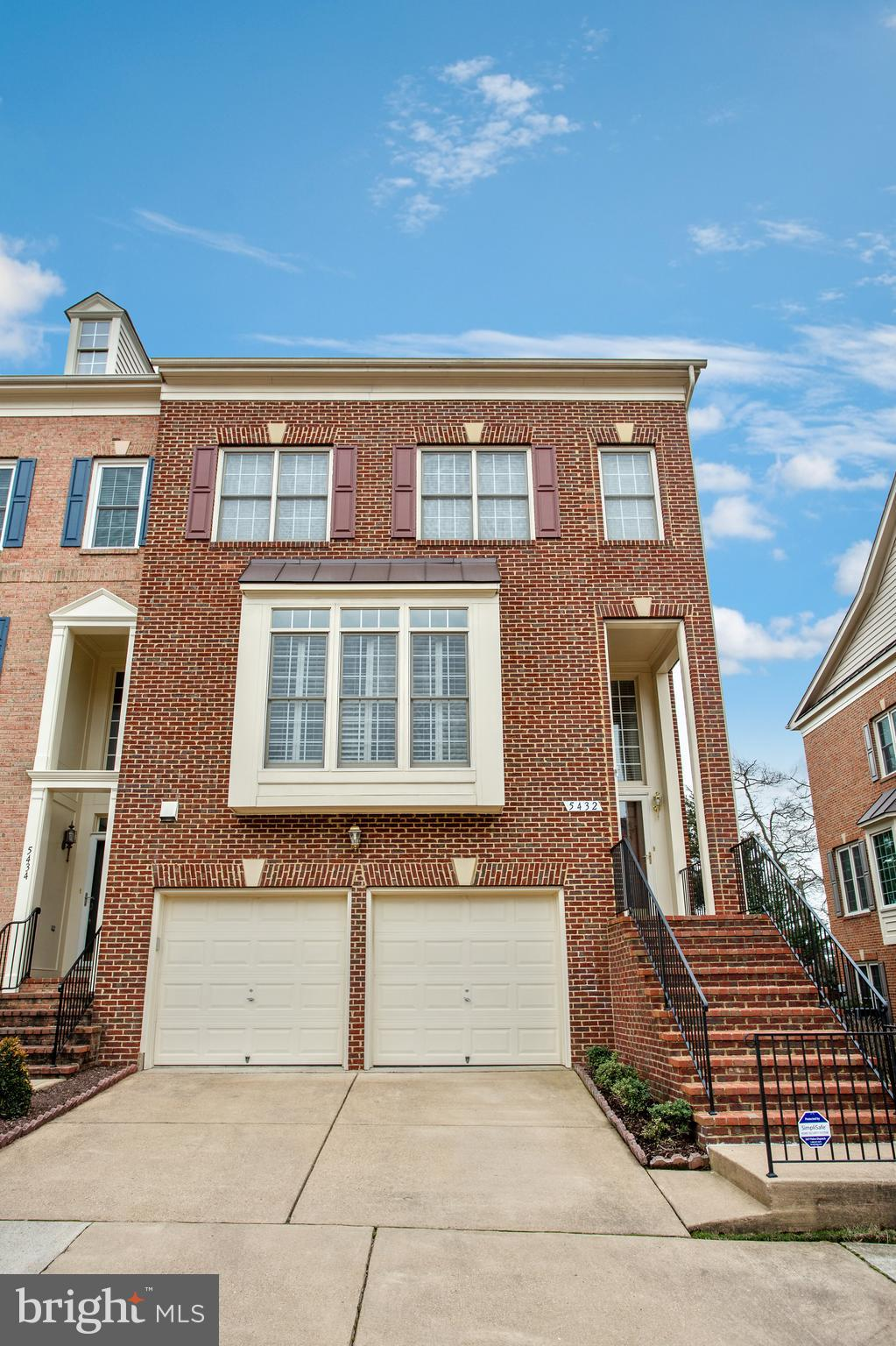 Amazing end unit townhome is sought after Ridges at Edsall. Hardwood floors throughout home. Spacious living area with gas fireplace. Gourmet kitchen with center island, gas cooktop, white cabinets. Walk out to deck for entertaining. Large master bedroom with sitting area. Master bathroom with separate tub and shower. 3 additional bedrooms on upper level. Finished basement with gas fireplace walks out to private patio and fenced yard. 2 car garage. CLOSE    TO METRO! Located a little over a mile from the Van Dorn Metro Station, Overlook is just five miles away from the attractions of Old Town Alexandria and less than 1 mile to I-395.   Overlook is also close to major employers such as the Pentagon and Fort Belvoir and 12 miles away from Downtown DC. Across the street from Bren Mar Park with hiking trails, play ground and the ability to join Bren Mar Pool.