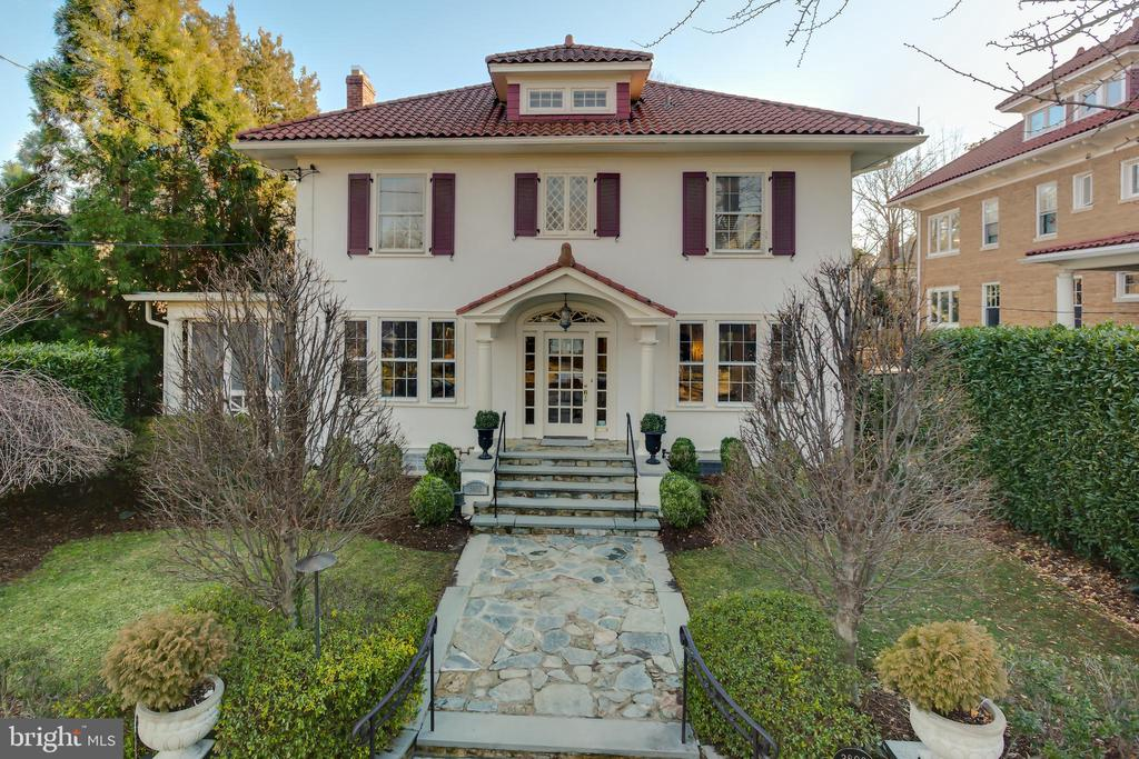 The one you have been waiting for!This 1927 Mediterranean style home in Chevy Chase weds vintage charm to modern luxury. Spread across 5164 SF, this 5 bed, 4.5 bath home features oak floors, a gourmet eat-in kitchen, grand spaces, high ceilings and large bedrooms. The home is complemented by a two story addition designed by architect Stephen Muse and features a stunning family room with gas fireplace, separate breakfast room and amazing owner's suite with 12' vaulted ceiling. All this and more located between to two metro stops, and the best of Washington DC shopping, entertainment, parks and schools.
