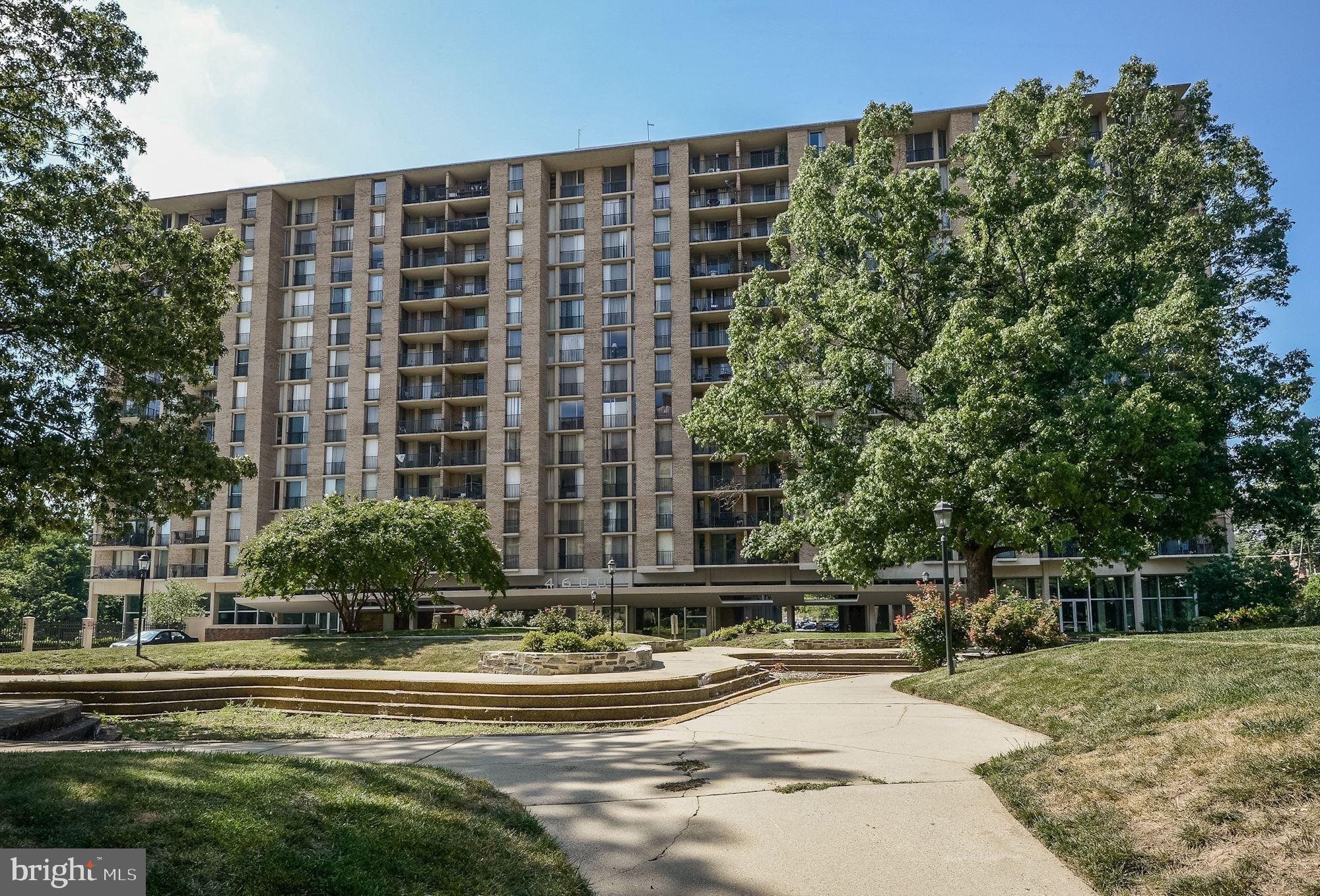 Rarely available, spacious 2bedroom/2baths condo at the Carlton with garage parking! New windows and sliding doors. Bright unit with balcony overlooking Four-Mile Run Park access to W&OD Bike Trail. Minutes to Pentagon and DC. Easy walk to Shirlington Village. All utilities included in condo fees. New lobby, hallways to be in updated in spring. 24 hour concierge, fabulous pool, fitness center, convenience store in building.