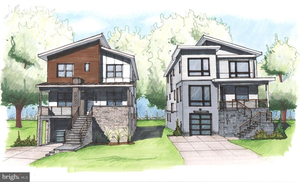 NEW CONSTRUCTION- CUSTOMIZE TODAY! 805 Daniel and it's neighbor, 801 Daniel, will be built at the same time.  This contemporary beauty features 5 Beds, 4.5 Bath and is packed with functional stunning spaces.  Light pours through the large windows, flooding the open floor plan with natural light.  You'll find sleek finishes, quality and attention to detail, all ready to be customized entirely to your liking.  Too busy to build custom?  We're happy to outfit the home beautifully on your behalf.  Find out about the endless possibilities today!