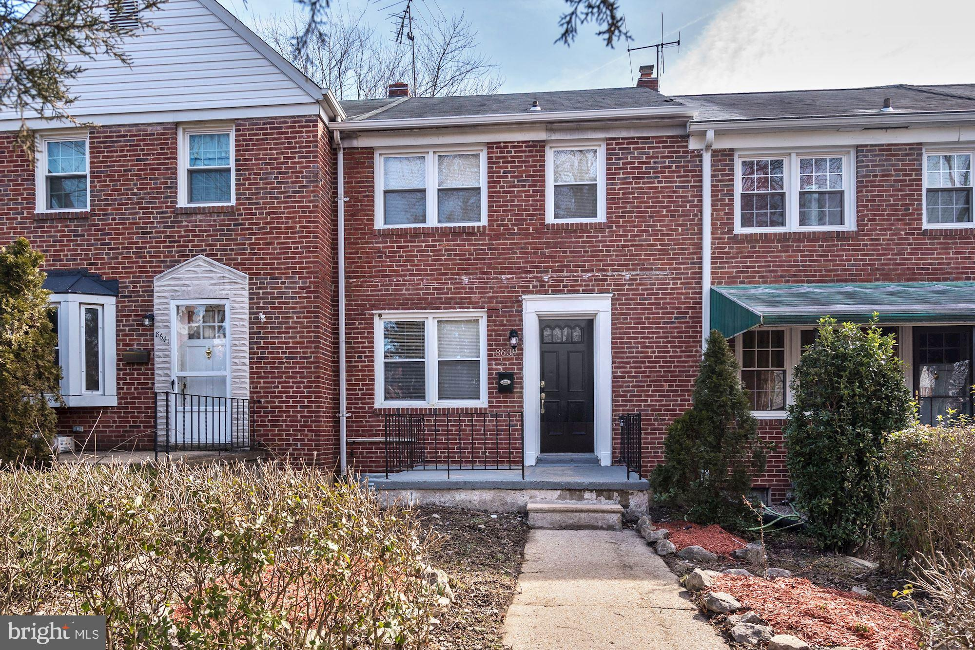 Beautiful and delightful updated rowhome in Loch Raven/Parkville!! Updated floors throughout the main level, spacious living room open to dining room, updated kitchen w/ ample cabinet space, stone backsplash and stainless steel appliances. Upper-level w/ 3 bedrooms & updated full bath, finished basement w/ family or rec room, 2nd full bath, and laundry area.  Spacious rear deck overlooking large backyard! All plumbing, electric & HVAC work was permitted. Unpack your bags & move right in!