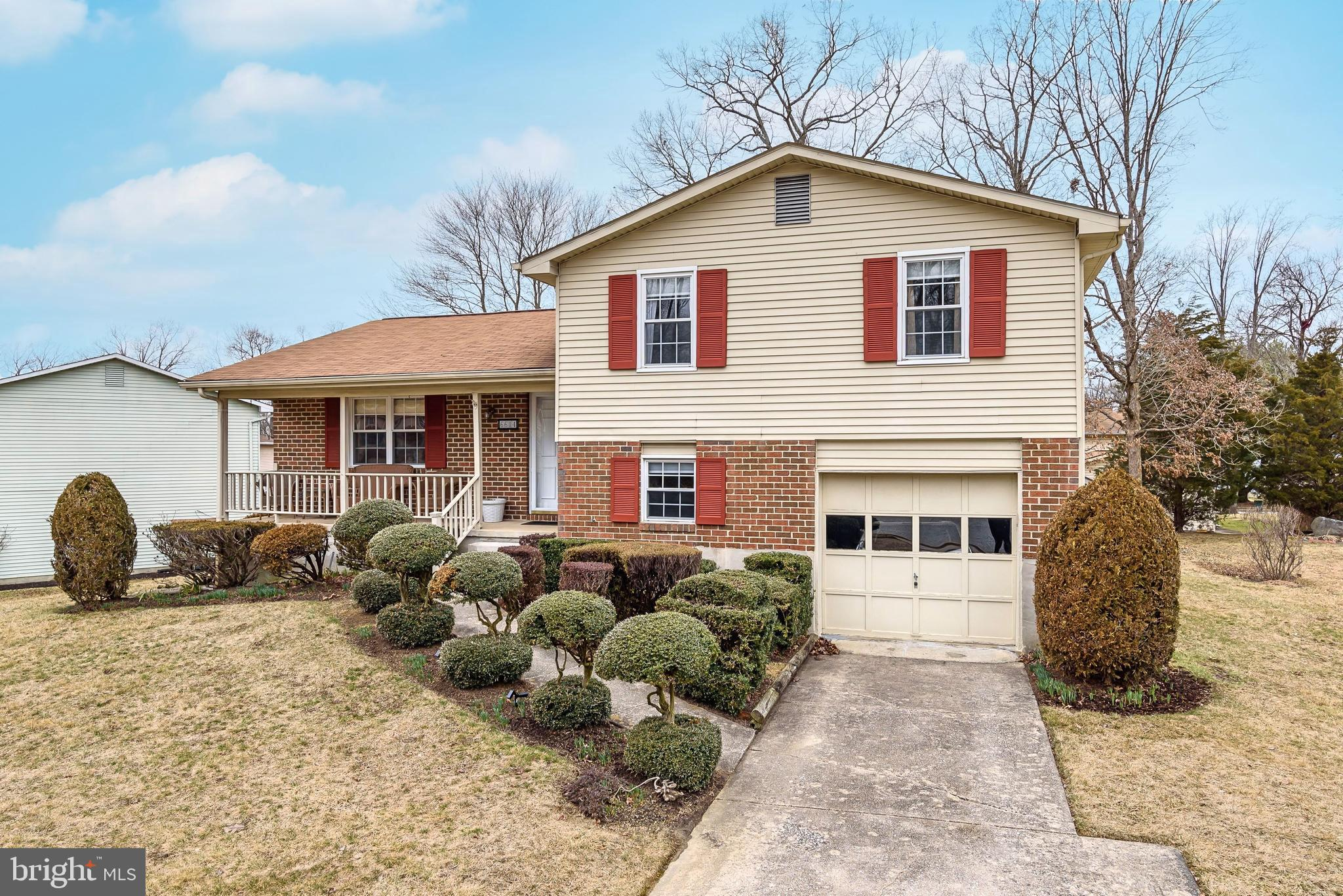 Lovely, well cared for 3 bedroom, 2.5 bath split level home in Catonsville sits on a beautiful lot, on a quiet street. Enjoy relaxing evenings on your front porch watching the seasons change throughout the year.  Inside, on the main level the kitchen is open to the dining room and hall leading to the lower levels and living room. The lower level office could easily be turned into a 4th bedroom.  The lower level family room features a fireplace and sliding glass doors leading to the large backyard. Freshly painted throughout!