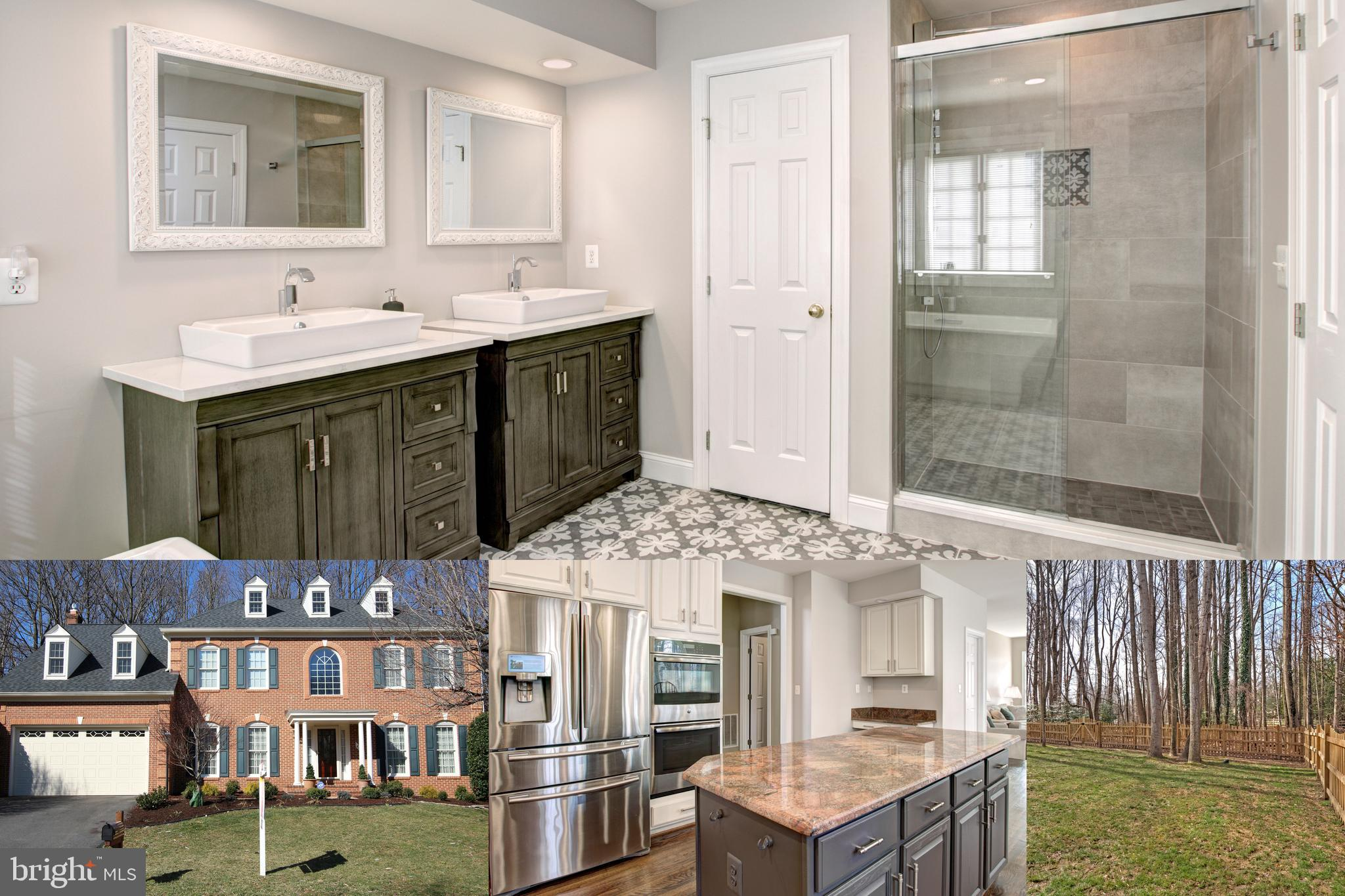 Wow! Fully finished 3 level Colonial home with modern updates in the West Springfield School District with plenty of room for entertaining! A master suite with a stunningly renovated in 2018 that will wow you!Gourmet kitchen is a Chef~s delight, with GE profile double wall ovens, Kitchenaid gas cooktop, GE Avantium convection built in microwave, refrigerator with internet, music AND news, and large center island. You will really enjoy the sunroom off the eat in kitchen with wooded views and the deck off the back.Main level features a formal living and dining room with refinished hardwoods throughout. Cozy up next to two beautiful gas fireplaces, one in the family room and one in the lower level rec room. Other upgrades include a tankless hot water heater, replaced roof with oversized gutter, fully fenced in backyard, high efficiency dual zone Trane HVAC and many many more!