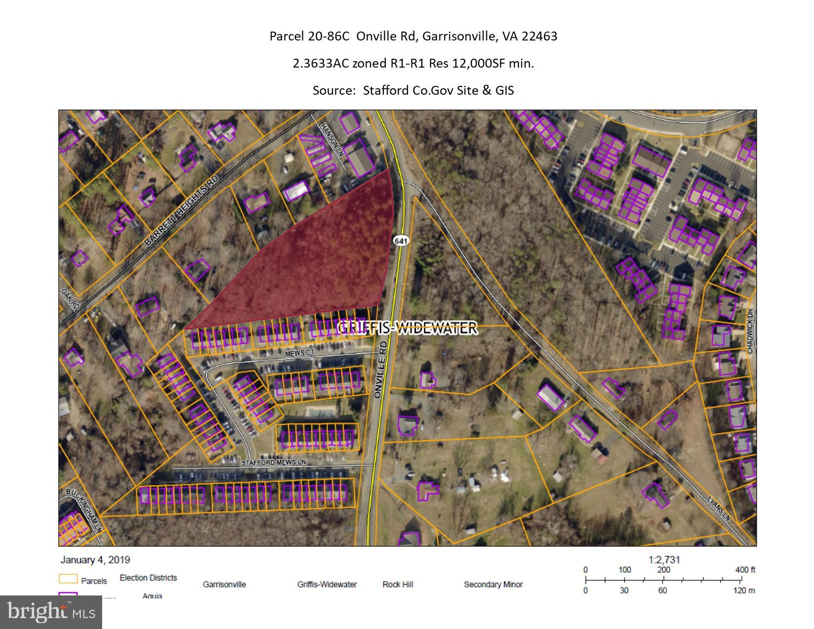 PARCEL 20-86C, ONVILLE RD, GARRISONVILLE, VA 22463