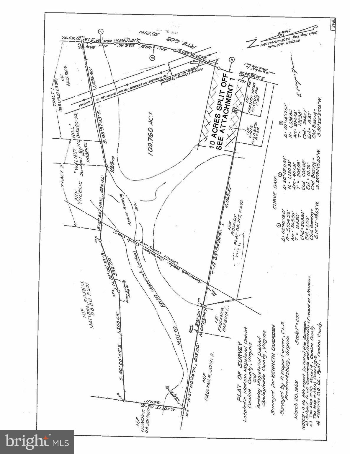 COUNTY LINE CHURCH ROAD, WOODFORD, VA 22580