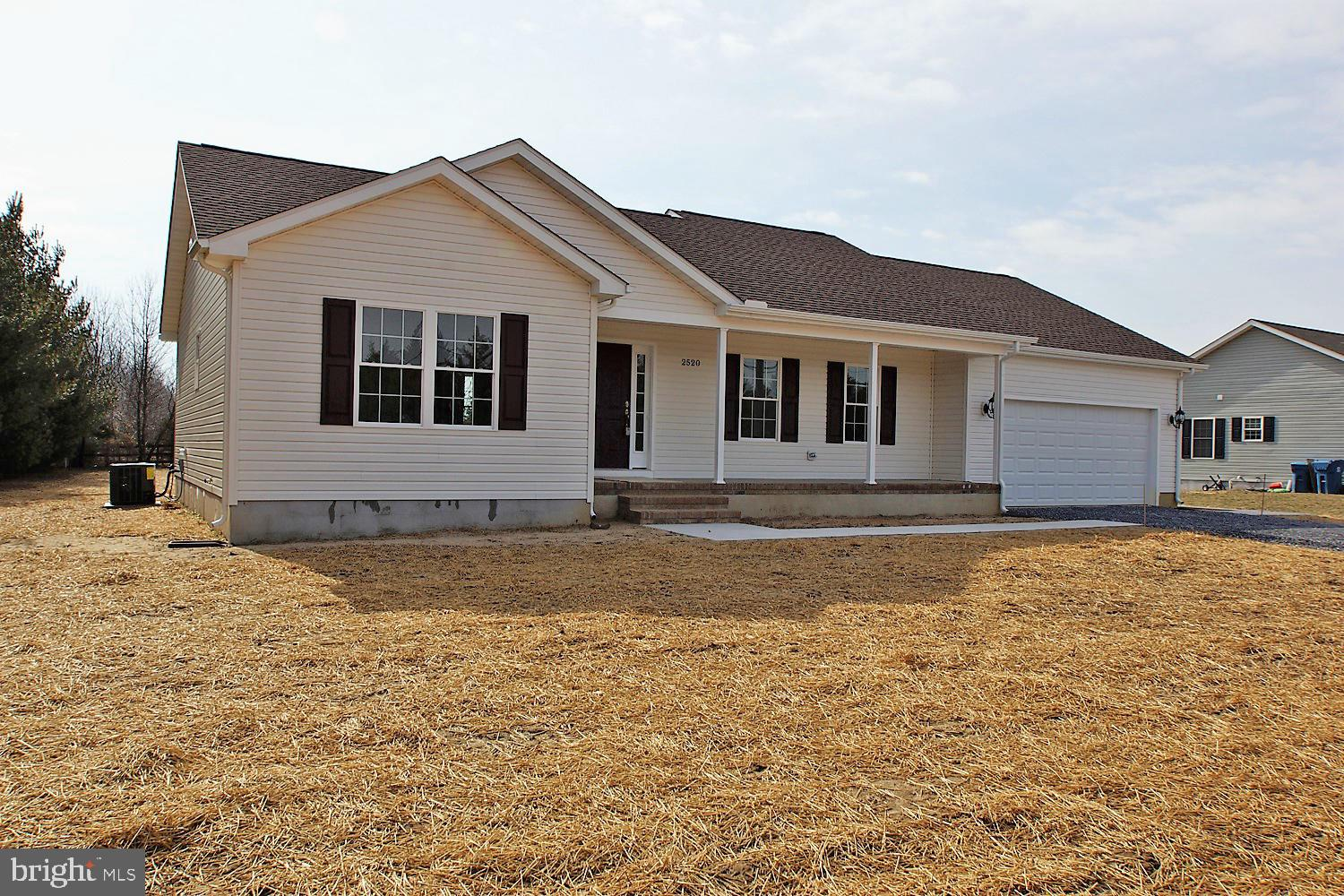 Country Living at its best! As you enter this home you will notice the gleaming planked floors and open floor plan. The kitchen is a chef~s dream, wide open kitchen with granite countertops, stainless steel appliances, breakfast bar, morning room leading to a large deck! This new home is ready for a new owner. Custom built!~ Quality Built! ~Sit on your deck and admire the country view! Sitting on 3/4 of an acre. No HOA fee. Don't miss this home!