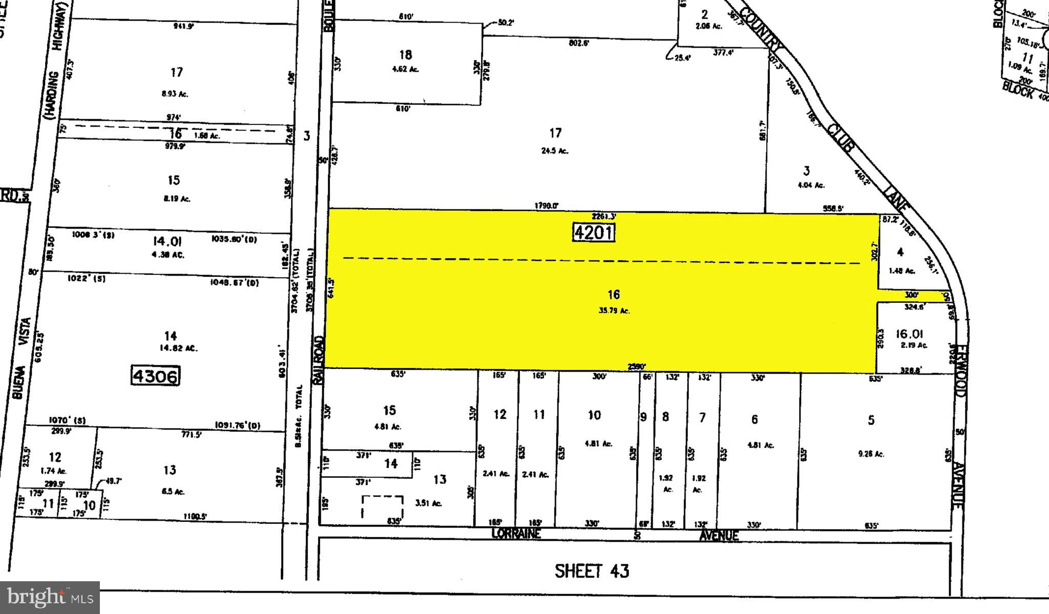Lot 16 RAILROAD BOULEVARD, RICHLAND, NJ 08350