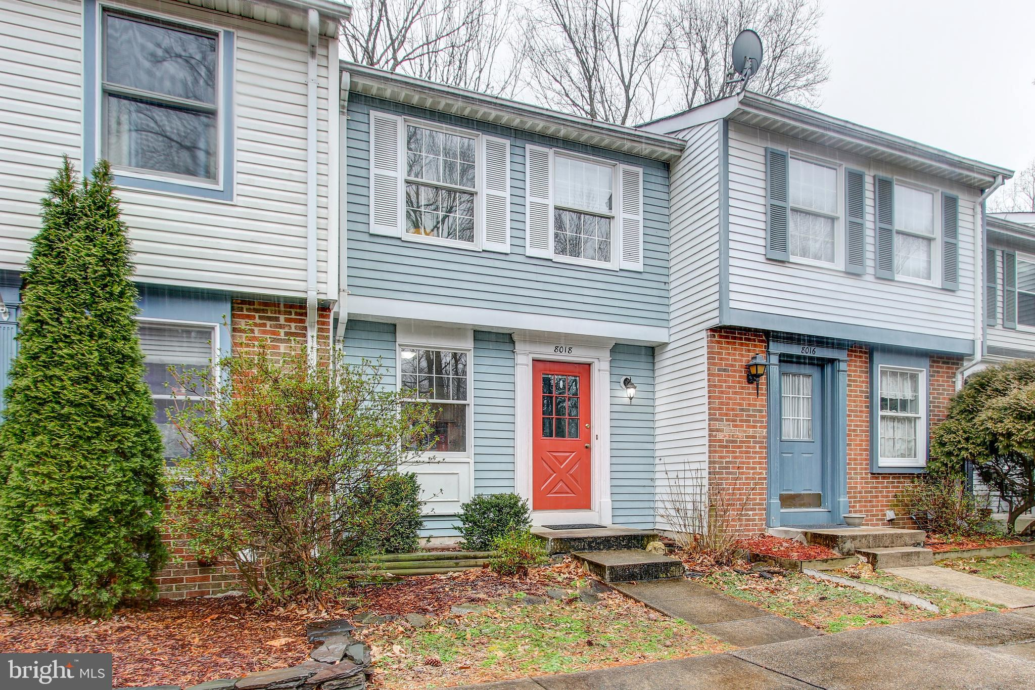 Great home ownership opportunity! Sun filled 3 level townhouse in convenient location close to shops, dining, entertainment and transportation. 2BRs/1.5BAs w/spacious kitchen, dining room. Basement walks out to patio and storage shed. Property backs to trees and close to tot lots and walking trails.