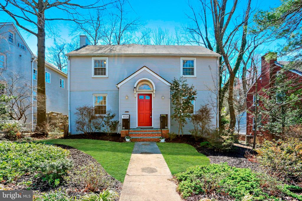 First Open 1-3pm, Sunday March 17th - This is a MUST SEE! Thoughtfully expanded center hall colonial located on a cul-de-sac in the highly sought-after Chevy Chase West neighborhood of Chevy Chase, MD. Built in 1941, this property provides a perfect combination of old world charm and modern convenience. Three levels of living space are supplemented with beautiful original architectural details, incredible picture windows, gleaming hardwood floors, a fireplace, a cast iron stove, and a large rear addition. This wonderful residence offers a warm and inviting living room with an elegant fireplace, a formal dining room, an updated sun-filled Corian kitchen, breakfast room with access to the rear deck and a bright family room with spectacular views and walls of windows. The main level is complete with a marble powder room. The second level boasts four bedrooms and three full bathrooms, including a master bedroom with a private bathroom and ample closet space. The unfinished lower level has great potential with an original basement and a huge unfinished addition ~ this is a great opportunity to customize a large, sun-filled space. Beautifully maintained yard with an expansive deck, mature plantings, and a detached garage.   This home is conveniently located just steps to the wonderful Capital Crescent Trail (a walking, biking, and jogging trail), Somerset Elementary, the Bethesda Pool, and the tennis courts and playgrounds of Norwood Park. It is close to both the Bethesda and Friendship Heights Metro stations and the wonderful restaurant scenes of downtown Bethesda and Chevy Chase. Easy convenient living!Schools: Somerset Elementary, Westland Middle, and Bethesda-Chevy Chase High School (International Baccalaureate Program)