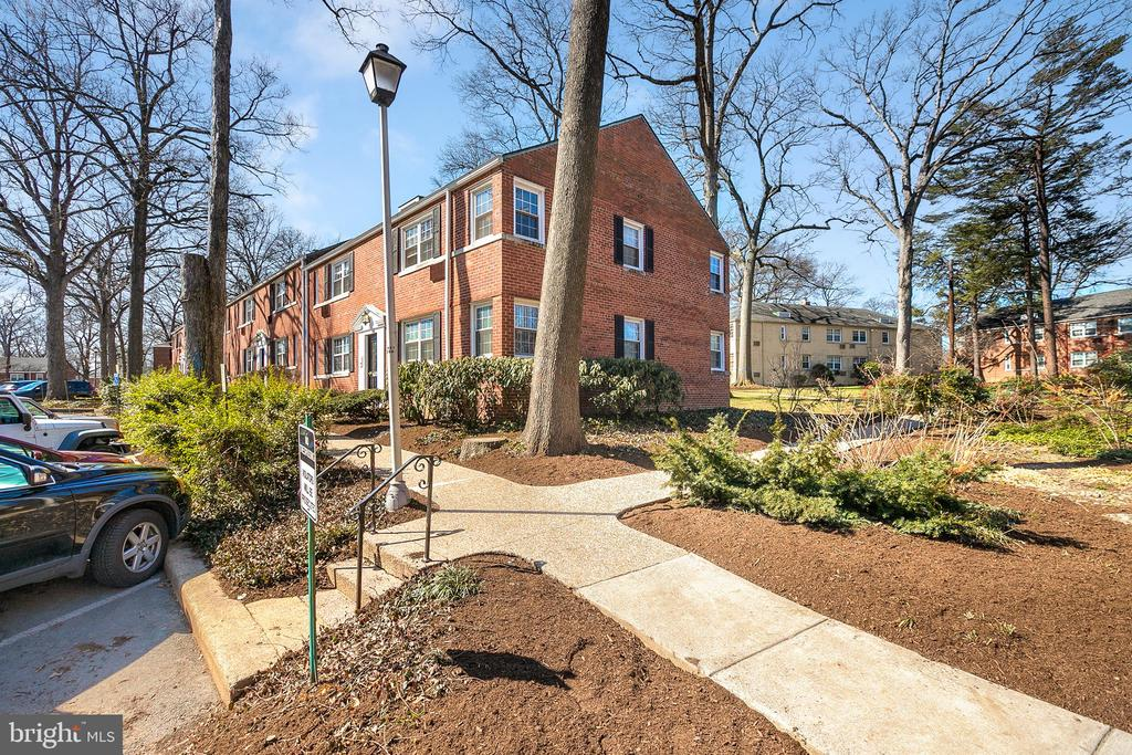 This stylish 1 bedroom, 1 bathroom condo located in the Arlington Oaks community offers a quiet, peaceful setting, surrounded by mature oak trees while being close to so much! Ballston, Clarendon, Metro, Rts 50 & 66, bus stops, bike share, trails, and many shopping and dining options, are all just minutes away. This well-maintained condo has had a number of recent updates and improvements, including laminate flooring, bathroom tile and vanity, lighting fixtures and ceiling fans. Ground level in a secured building, gas cooking, washer/dryer combo in unit, plenty of parking (up to four vehicles). Condo fee includes water, heat, trash removal, and more. (Use of gym facilities available for $60/annual fee).