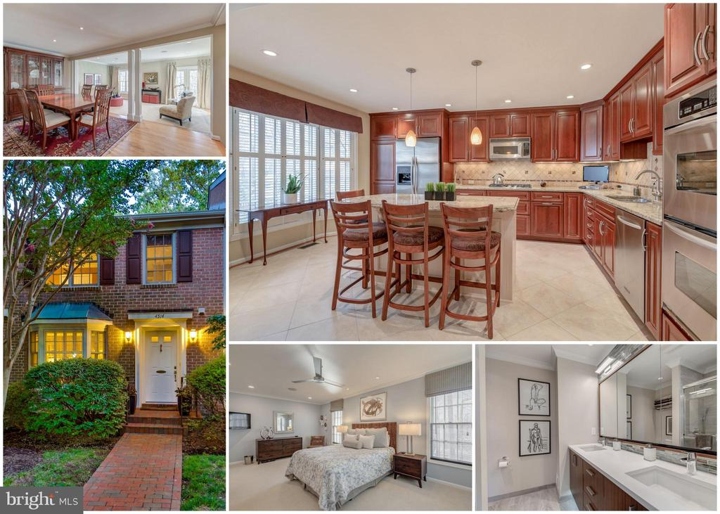 OPEN SUNDAY 2-4pm!  You'll love this completely updated townhome in sought-after Cathcart Springs! Rarely available and backing to trees. High end designer features throughout this lovely home. Gorgeous eat-in kitchen that includes granite, stainless steel appliances, double oven, gas cooktop,  custom backsplash, plus a huge island.  Renovated bathrooms with heated floors, porcelain tile, dual vanities (in master), and luxury fixtures. Tons of personal touches too, including LED lights, new solid wood doors throughout with new hardware, new closet doors, new moldings throughout, custom built-ins,  new plush carpet, chic ceiling fans, wired sound system on all 3 levels, and so much more! Plenty of storage. Finished bright walk-out basement includes a large rec room, gas fireplace, half bathroom, great laundry room , and workshop/utility room. Amazing private rear back patio. Newer premium Pella dual pane Architect Series wood windows throughout! Newer Trane HVAC.  Cathcart Springs is lovely neighborhood in a park-like setting where you can walk to the Ballston Metro Station and everything Ballston.  Explore everything that the new Ballston Quarter has to offer!