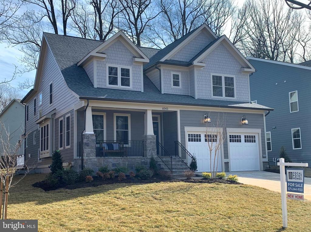 New 6BR/5.5BA home JUST FINISHED on quiet cul-de-sac by local builder, Focal Point Homes. Incl. finished BR, BA, & Rec Rm in bsmt. Hardwood floors throughout 1st & 2nd floors. 61' x 71' rear yard w/ mature trees. Walk to Haycock ES & Longfellow MS.  Contact builder for add'l info about this home & others.