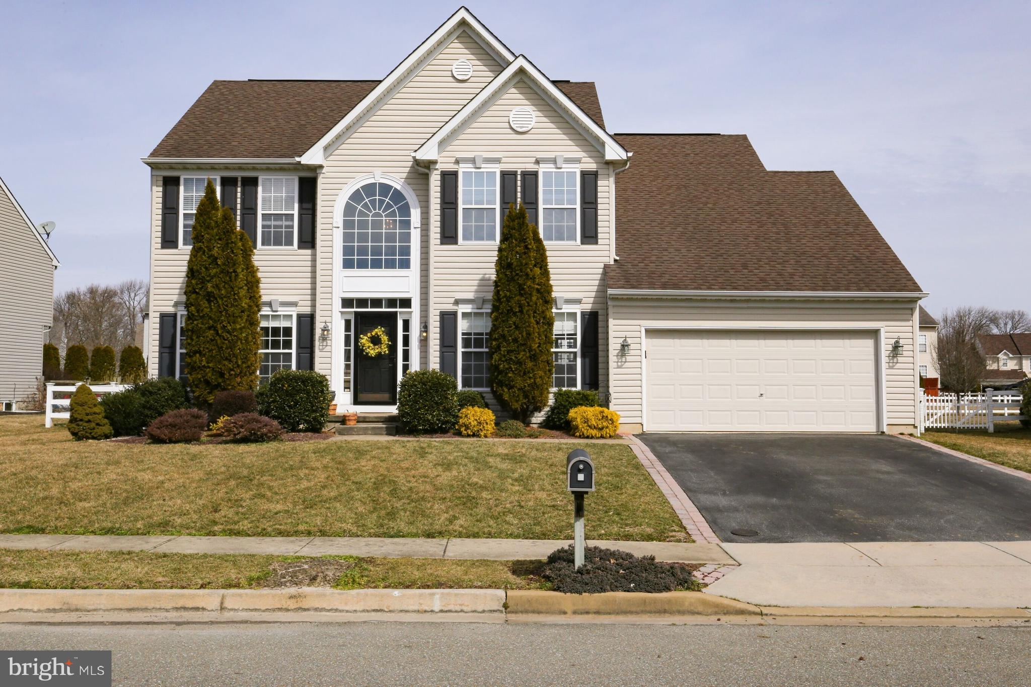 Beautiful 4 bedroom 2.1 bath home in the sought after golf course community of The Legends and Appoquinimink School District!  Located on a quiet cul-de-sac, this home is sure to please.  Step into the 2 story foyer onto the hardwood flooring which leads you to the lovely eat-in kitchen equipped with an island, stainless refrigerator and dishwasher, new granite counter tops and a BRAND NEW stove.  The open concept from kitchen to family room where the hardwood floor continues along with a cozy fireplace to spend those chilly evenings.  Down the hall is the laundry area and an office or playroom. The BRAND NEW carpet in the formal dining and living rooms travels all the way up the stairs and throughout the 2nd floor.  The spacious master bedroom has vaulted ceilings, roomy closets and it's own master bathroom suite featuring a double vanity and separate soaking tub and shower.  This 2nd floor is finished off with three roomy bedrooms and a full bathroom with BRAND NEW vinyl plank flooring.  Head down to the enormous finished basement with 9FT CEILINGS that can be utilized for movies, gaming, working out...the possibilities are endless!  Plus an unfinished area, great for storage. Basement has Bilco doors as well. (BRAND NEW hot water heater 2019)  Moving out back to the large, fenced,  flat backyard with brick patio...perfect for bar-b-ques or just relaxing after a long day.  All of this with the option of a golf course and/or club house with pool, restaurant and tennis courts in the top-rated Appoquinimink School District!  Room sizes are approximate.