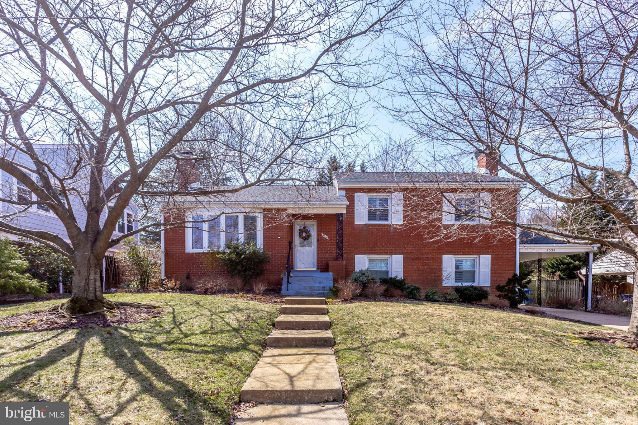 Just listed in sought after neighborhood of Varsity Park. Gorgeous 4 bedroom 3 full bath 4 level split home in the heart of Alexandria! Gleaming hardwood floors throughout the home. Updated kitchen and all 3 full bathrooms. Replaced roof and HVAC in 2014! Conveniently located less than a mile from 395, every commuters dream!Upper level 1 features 3 bedrooms. Master suite has plenty of closet space and a private bathroom. Master bathroom has shower/tub combo with separate vanities.Lower level 1 features family room with second brick faced gas fireplace. Separate laundry room with lots of cabinetry for added storage as well. Laundry room is walkout level to backyard. The fourth bedroom with fully updated bathroom on lowel level 1. Bathroom has roomy stand up corner shower.Main floor plan is open floor concept with the kitchen flowing into the dining/sitting room. Living room has lovely marble face gas fireplace. Kitchen features dark granite countertops that compliment the white cabinetry. Additional bar added seating space. Door to the kitchen leads to your new backyard oasis. Backyard features a 2 level deck, gazebo, and built in porch swing, perfect for outdoor entertaining.Basement level has finished rec room. Plenty of storage space throughout the home.