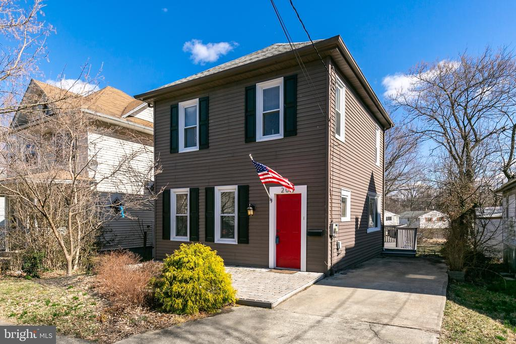 Best value in Haddonfield! Beautiful Kitchen has lots of  kitchen cabinets with extra features. Granite counter tops stainless sink and a stainless steel appliance package. There is an open floor plan where living room and dining room are combined into one large room. Separate eat in kitchen and new deck complete the first floor. Deck opens out to a deep back yard which includes a storage shed. On the 2nd floor you will find the Master bedroom and the 2nd bedroom and separate bath. Neutral colors and double pane windows thru out! Brand new high efficiency 3 zone heat and air conditioning. Full basement and updated electric. Walking distance to center of town. You have to see the inside to appreciate this property.