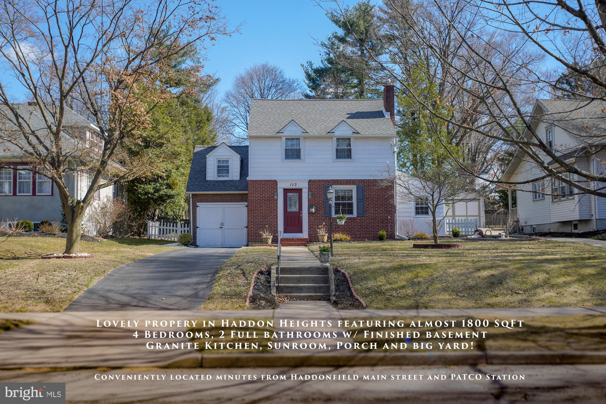 113 3RD AVENUE, HADDON HEIGHTS, NJ 08035