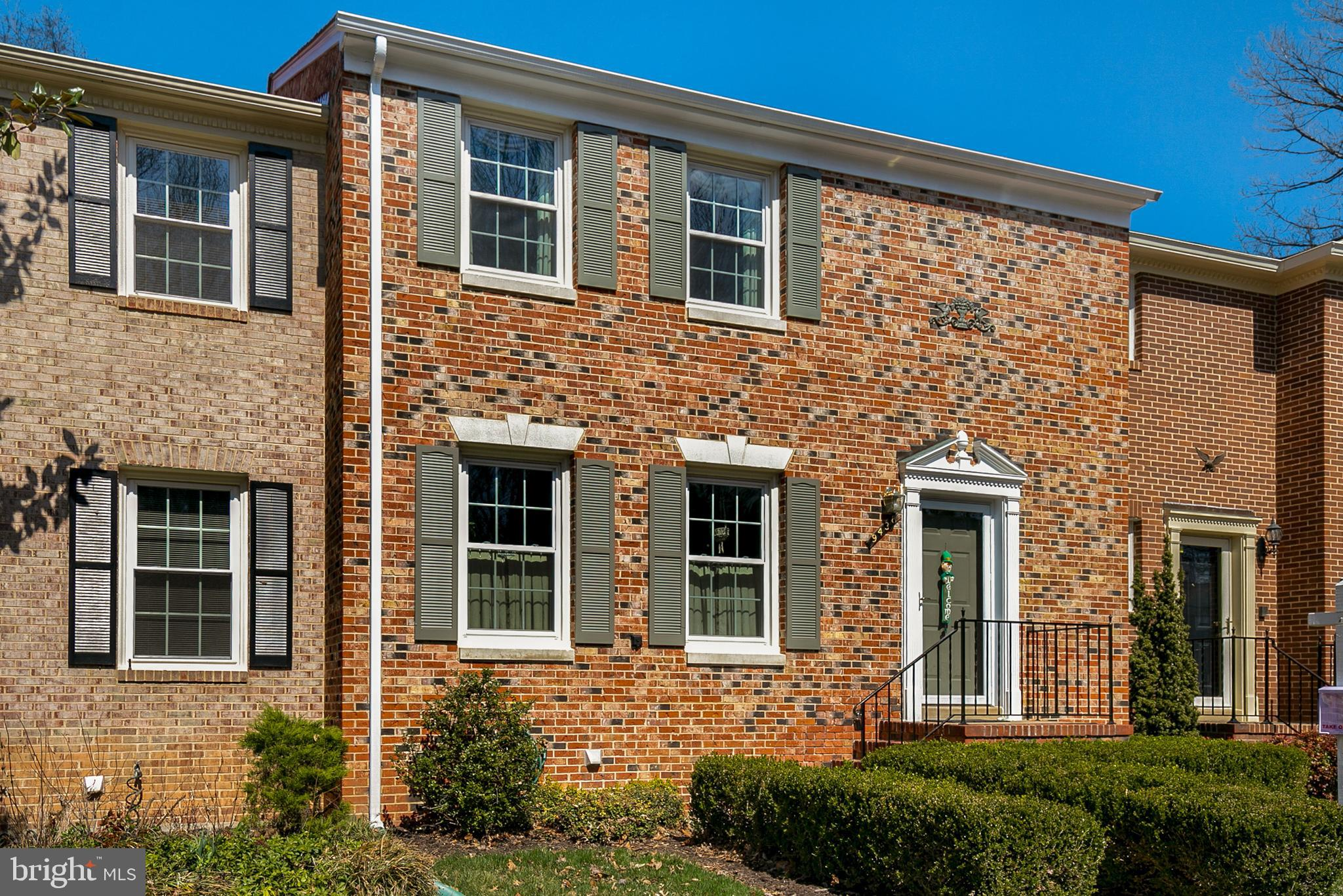 """Fantastic opportunity to own this spacious all-brick Orange Hunt Square townhome! The """"Charleston"""" is one of the most popular models in the community due to its flexible & spacious floorplan with over 2,200 square feet of livable space including finished lower level. Large, eat-in Kitchen updated with newer appliances & granite countertops, Comfortable Dining & Living Rooms and convenient Powder Room complete the main level. Three spacious Bedrooms along with two full Bathrooms on the upper level. Master suite includes dressing area, walk-in closet & Master bathroom with shower. Lower level features large Rec Room with wood fireplace, updated wet bar with built-in cabinetry & granite counters plus walk-out to open & sunny fully-fenced rear yard! Other updates include: roof 2016; HVAC 2014; water heater 2017; replacement windows.  Window treatments & some furniture available for purchase! Ideally located directly across the street from popular South Run Rec Center featuring indoor competition pool, various sport courts, fully-equipped exercise facilities, fitness classes, multiple outdoor sports fields and a dog park! Fantastic commute location right on Fairfax Co Parkway with quick access to Rt123, I-66 & I-395! Quick trip to Pentagon via express Metro bus or Ft Belvoir just minutes away! Top-rated West Springfield HS pyramid!"""