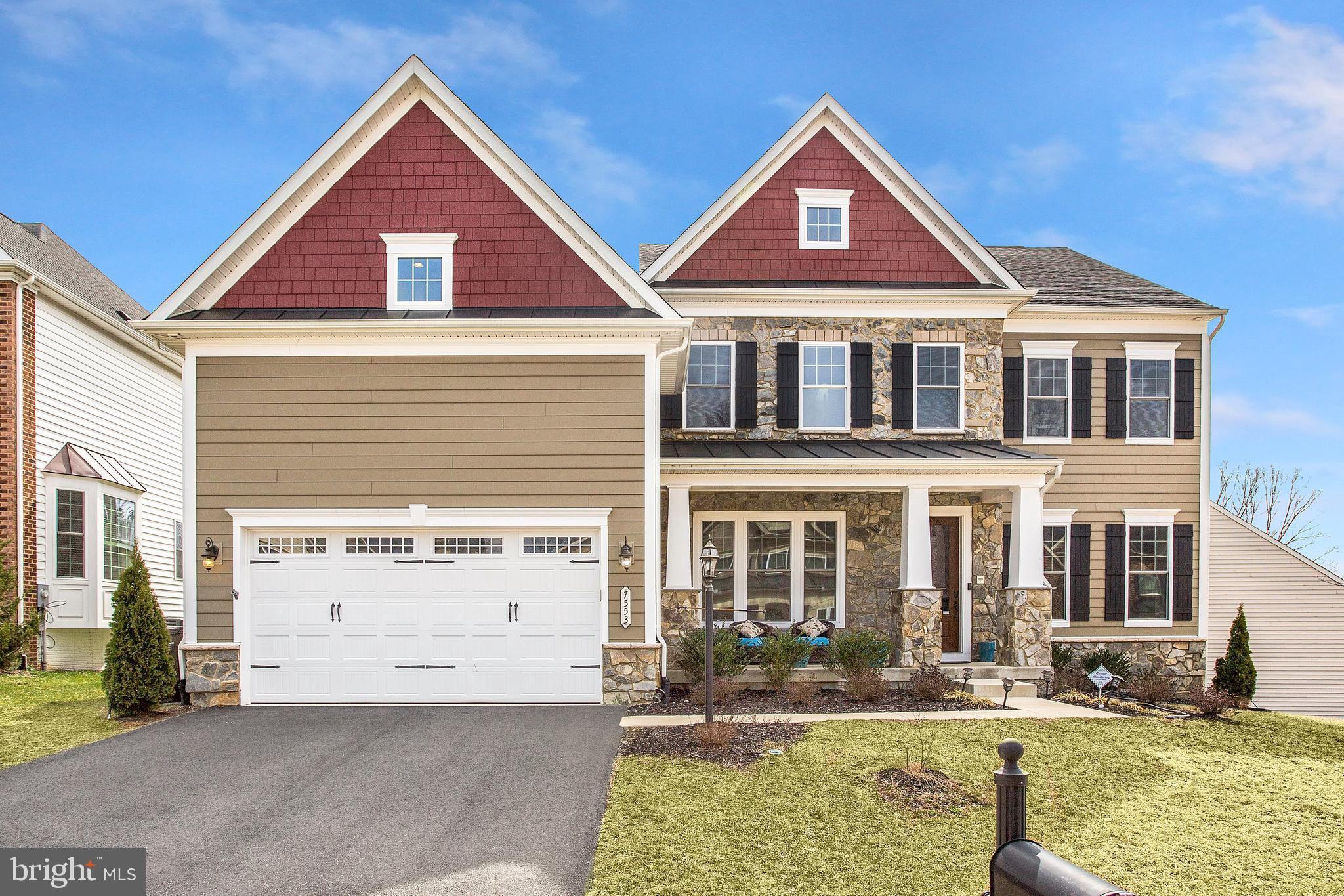 Amazing opportunity to live in the exclusive Gambrill Pointe community on one of the largest lots. Large custom deck with a double-sided fireplace serving outside and inside. Exceptionally large gourmet kitchen. Spacious partially finished basement. Beautiful master suite with attached sitting room. Option for 6th bedroom.  Do not miss this opportunity!