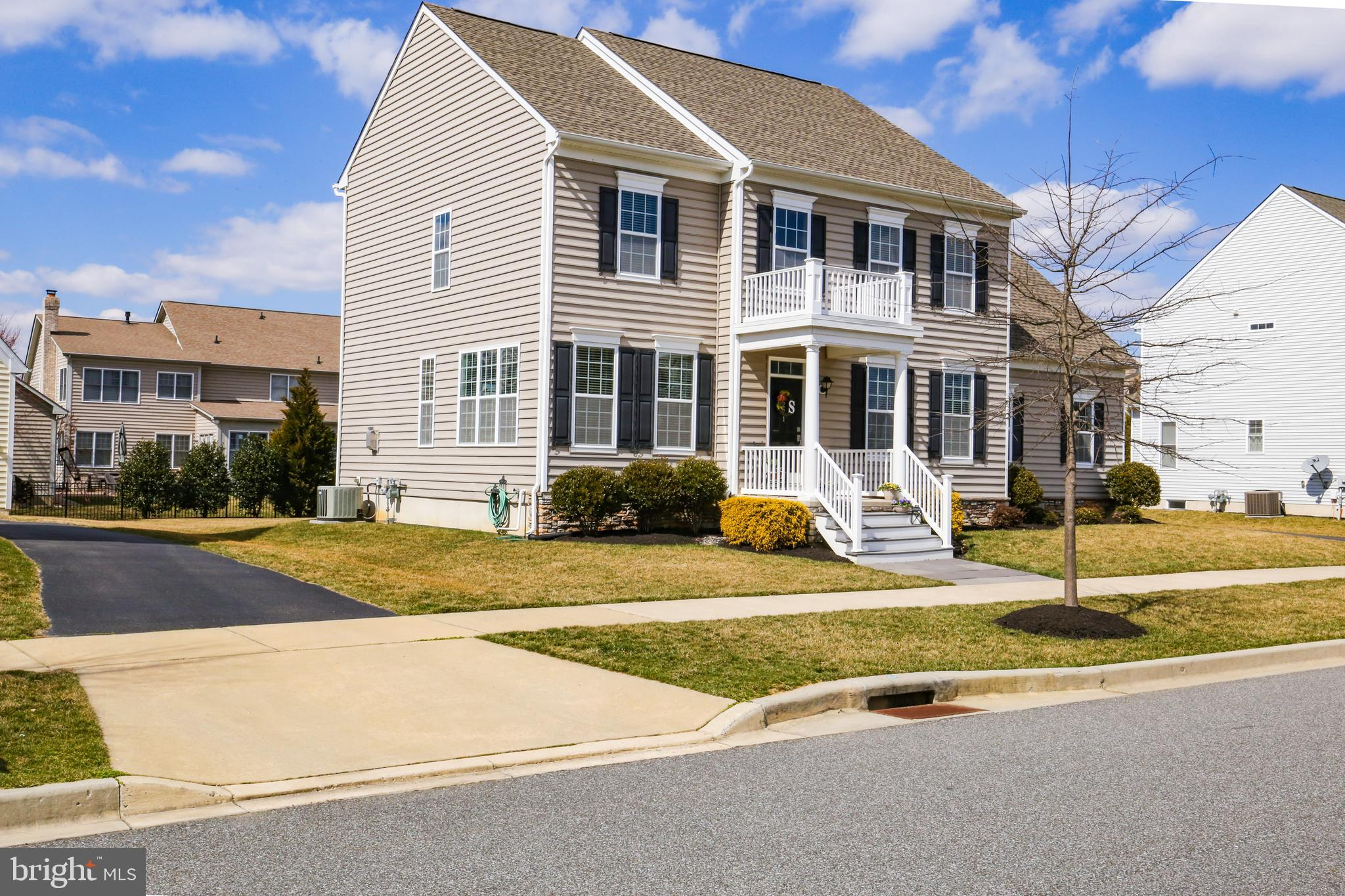 GREAT NEW PRICE!!! The exterior styling is sure to please with an updated flair! This remarkable Anderson Homes Amherst Model has numerous upgrades and improvements throughout. The side-entry garage grants convenience, while a welcoming front porch with bold columns adds tremendous curb appeal to this home. Inside, visitors are treated to an extended foyer area, yielding a splendid first impression. The unique layout flows into a dazzling kitchen which is a cook's dream; spacious island for prep-work space, maple cabinets, upgraded faucet, granite counter tops, double wall ovens, microwave and gas cooktop. Just off the kitchen, get cozy on the couch with your favorite book or watch a movie in the family room area. Causal and inviting, the dining room effortlessly compliments the living room, creating the perfect scenario for hosting holiday parties or entertaining guests. Unique side staircase leads to the second floor. Upstairs the master suite has a large closet for all your clothes, shoes, and dress attire. Wait until you see the Owner's bathroom, WOW!  3 additional good-size bedrooms conveniently located near the hallway bathroom and linen closet. Ready to be finished for your own 'man cave' or 'game room' is the full basement area with 9' ceilings and egress-exit. Completing the plan the new homeowner will appreciate the expansive 2-car garage and oversized driveway for ample parking. All the work is done just move in and located in Appoquinimink School District. Parkside offers a small town charm with modern conveniences throughout the community. Pedestrian friendly tree lined sidewalks and paths lead to the local park.. Enjoy the club house, pool, fitness center, tennis courts, and tot lot. Come tour this GEM today and make it your OWN!