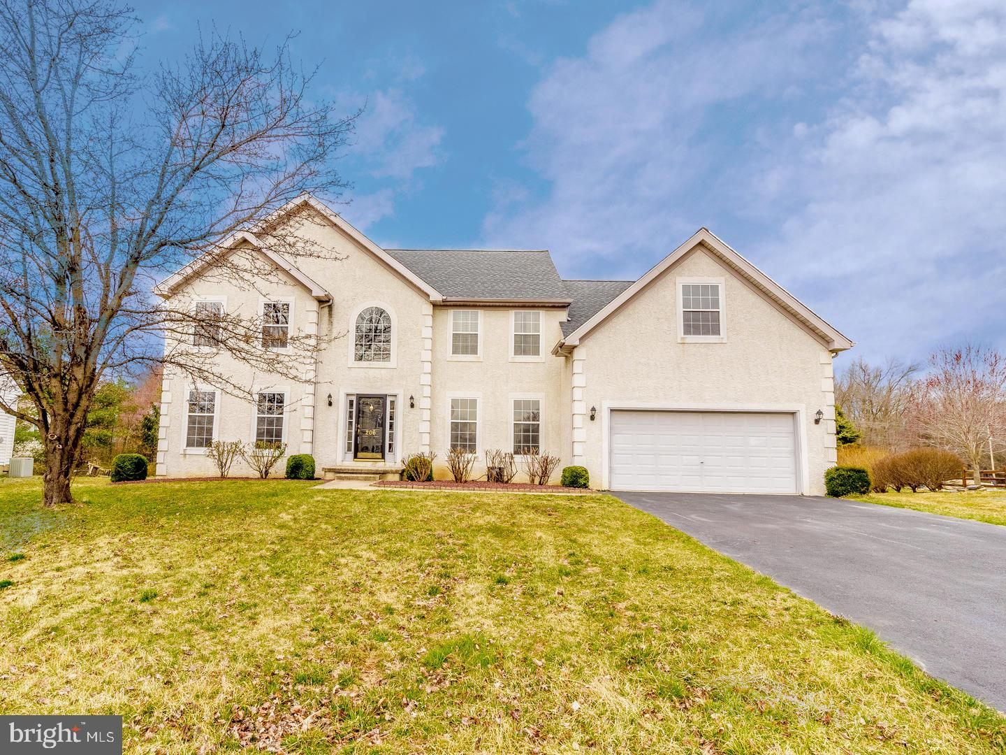 Outstanding opportunity to live in an updated 4 bedroom, 2.5 bath Clear Creek home in the award-winning Appoquinimink School District. This stately Colonial offers an open floor plan, tall windows and sits on an almost a half-acre lot. The two-story foyer with turned balcony staircase is a welcoming and impressive space. The center hall foyer leads you to both the formal living room and dining room, each with details like wainscoting, crown moulding and lots of natural light. The open floor-plan continues in the kitchen and great room. The eat-in kitchen features stainless steel appliances, including gas range, built-in microwave, French door refrigerator with freezer drawer and dishwasher. There's also an island with breakfast bar, separate pantry and the dining area with doors leading to a fabulous paver patio with a fire pit and pergola. The great room has vaulted ceilings, a gas fire place and a back staircase leading up to the bedrooms.  The main floor also includes a private study/office, laundry room and an updated powder room. Upstairs there's a large master bedroom with enough room to have a separate seating area, huge walk-in closet and an en-suite with garden tub, stall shower and a vanity with double sinks. The 3 other bedrooms are generously-sized and have large closets.  The hall bath has been updated with ceramic tile with mosaic details, handsome double sink vanity and tub with tile-surround. There's also a two-car garage and large basement that's just waiting to be finished.  This home has been well-maintained, including the new single-layer roof that was added in 2018. Conveniently located near Rt. 896, Rt. 40 and I-95. Close to restaurants, shopping, Lums Pond State Park and The University of Delaware.