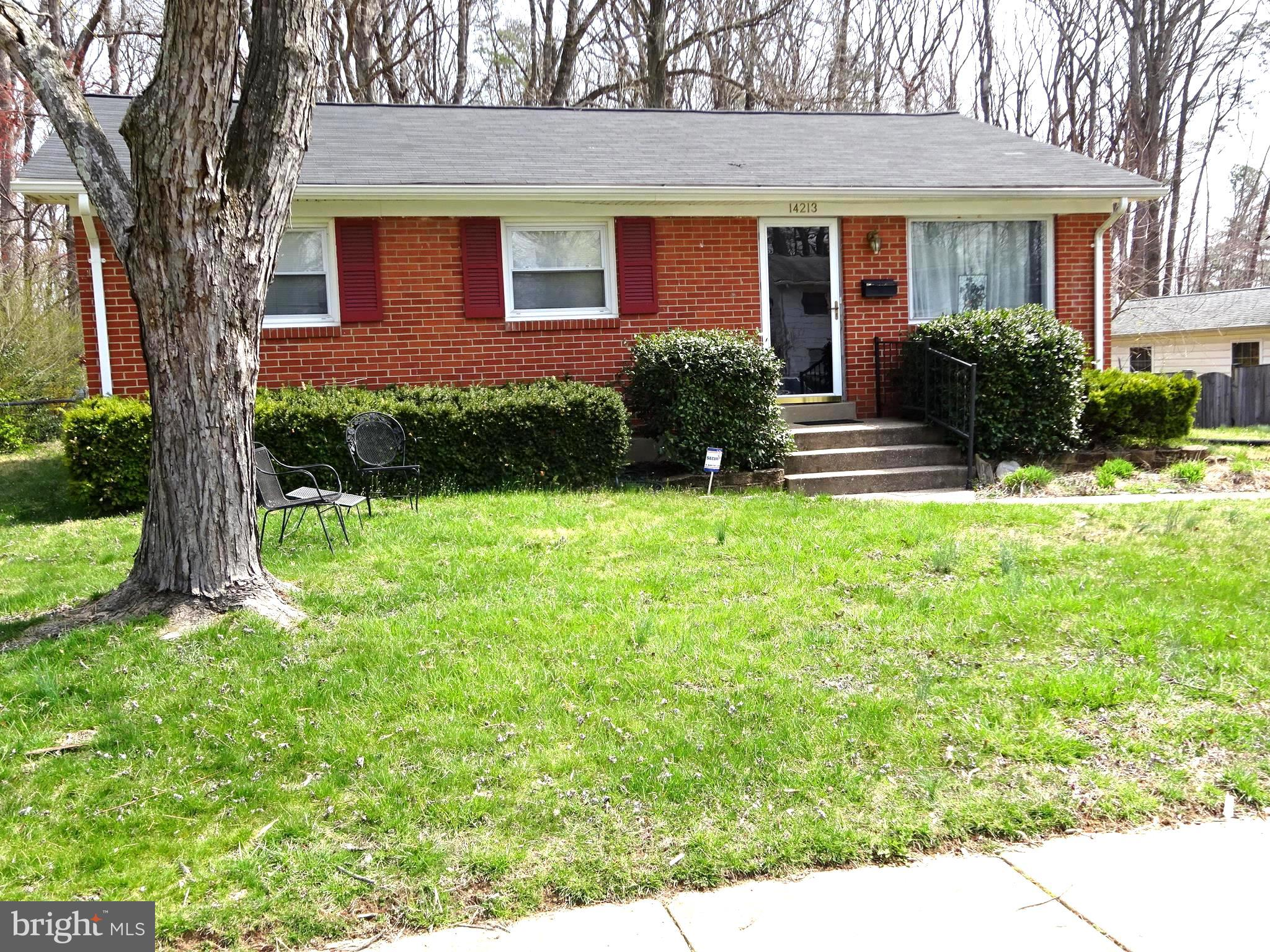 SECOND PRICE REDUCTION__Brick rambler with large family room addition, brick fireplace, newer roof, newer furnace, newer stove and refrigerator, 3 sheds,  fenced rear yard, separate laundry room, vent work & duct work installed for central air, backs to woods, gas log insert. ll Reasonable offers considered