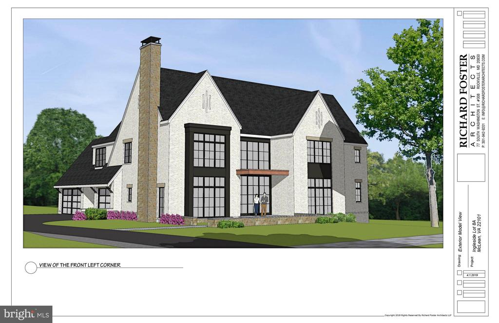 THIS RENDERING IS A SUGGESTION.  THE BUILDER WILL BUILD TO YOUR TASTE AND SPECIFICATIONS. Rare opportunity to own and customize your home to-be-built by Buchanan-Price located in an exclusive enclave of three new custom homes in a park setting and walkable to downtown McLean. Three finished levels, custom gourmet kitchen, screened porch, and outdoor space to enjoy the breathtaking views of the park. Builder will start in 30 days!