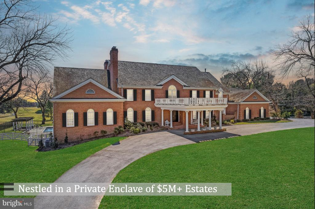 Exquisite & Gracious Estate in Bethesda on a Private Enclave Boasting $5M+ Homes!  Panoramic Views of PGA Championship Congressional Golf Course! This Elegant Home Boasts 6 Fireplaces, Custom Trim Throughout, Large Rooms, Main Level Master Suite, Huge Outdoor Space Overlooking Beautiful Pool & Views!  Designed for Entertainment and Lavish Living!  Bring Your Decorator to Unlock its' Unlimited Potential and Amazing Value.