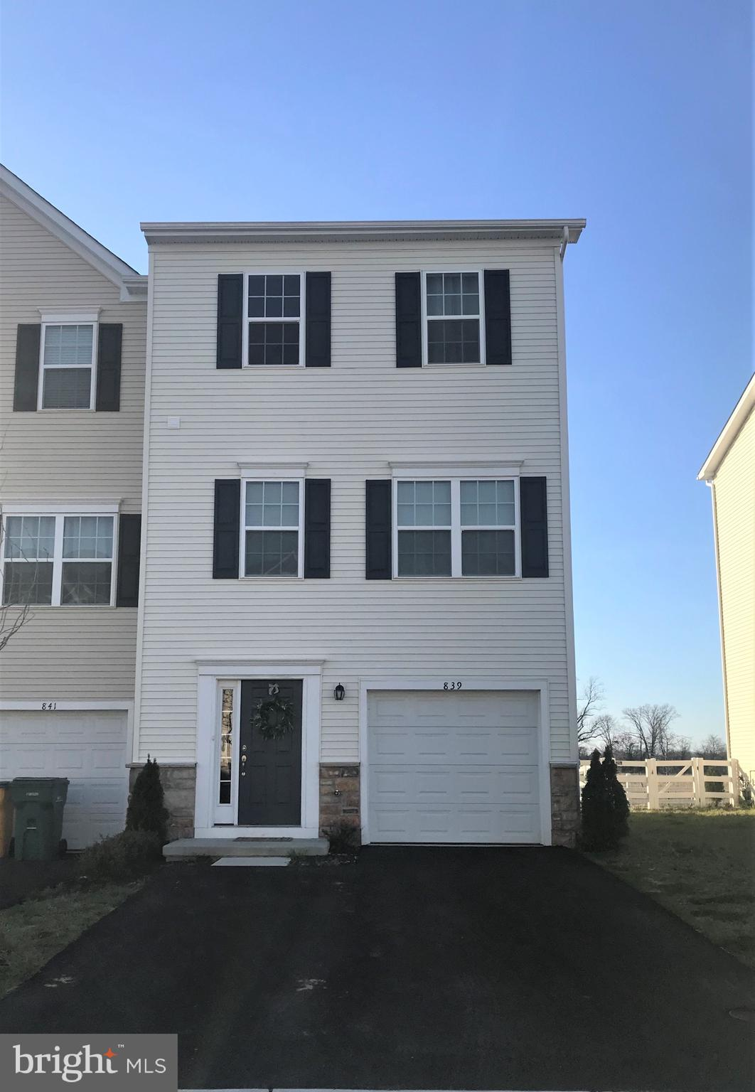 "Gorgeous townhome in the desireable neighborhood of Hyetts Crossing in Middletown. This home was built in 2017 and features 3 bedrooms 2 1/2 baths, finished first floor with walkout slider to fenced spacous rear yard. Large master bedroom with walk in closet and master bath. Gorgeous wood wide plank floors on first and second levels. Beautiful kitchen features 42"" cabinets with grainite and a large island. This one will not last schedule your appointment today!"
