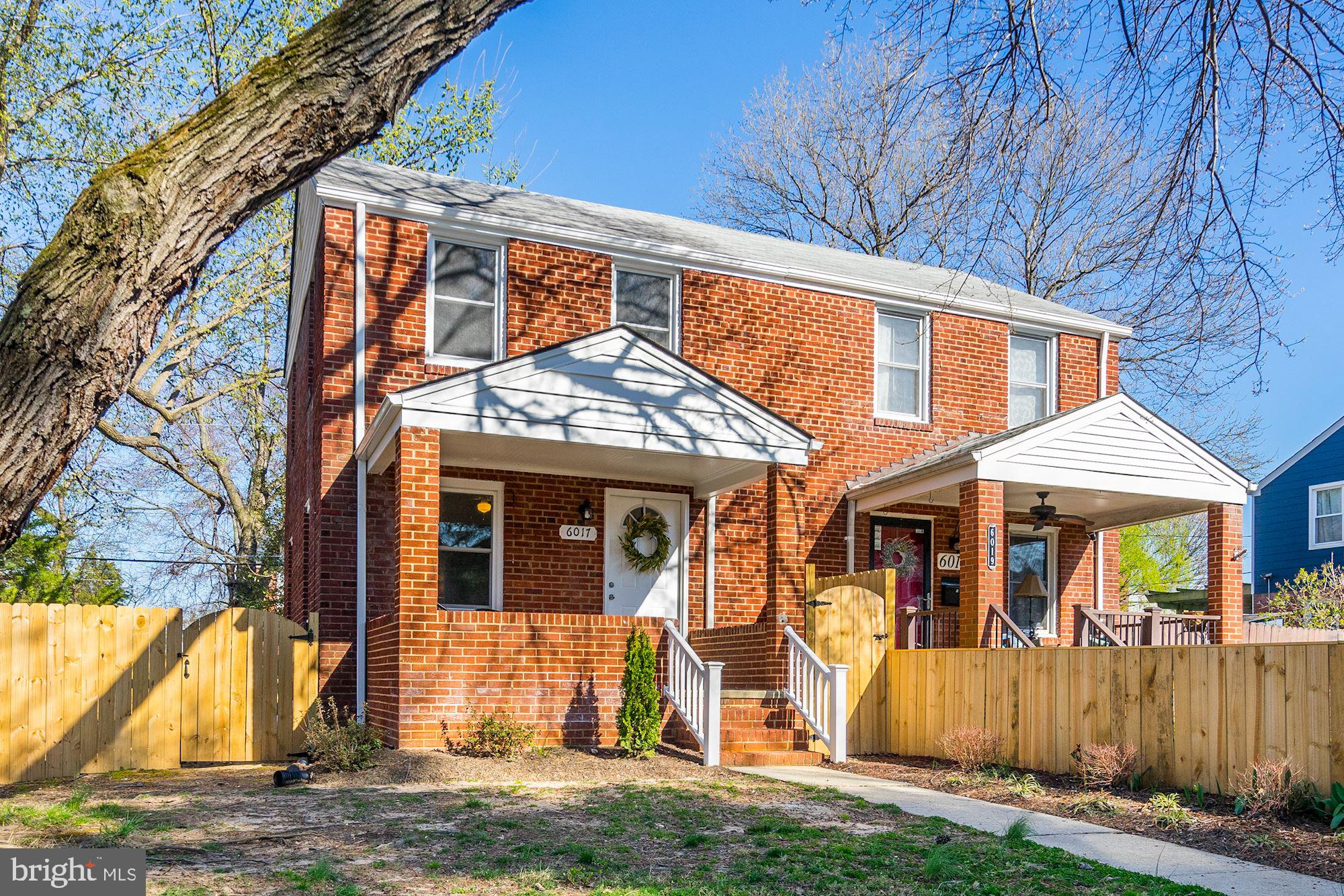 SHORT WALK TO THE METRO! Completely Renovated for the Sale! New Electrical, Plumbing, Windows, Heating/Cooling units, Water Heater and Baths - Gorgeous Kitchen: Stainless Steel Appliances, abundant cabinets with granite counter tops! New wood flooring on main level with new carpet over hardwoods on upper level. Finished Basement: Newly installed window well for extra light & optional 3rd BDRM. New Fully Fenced Backyard with Gate access and Patio!