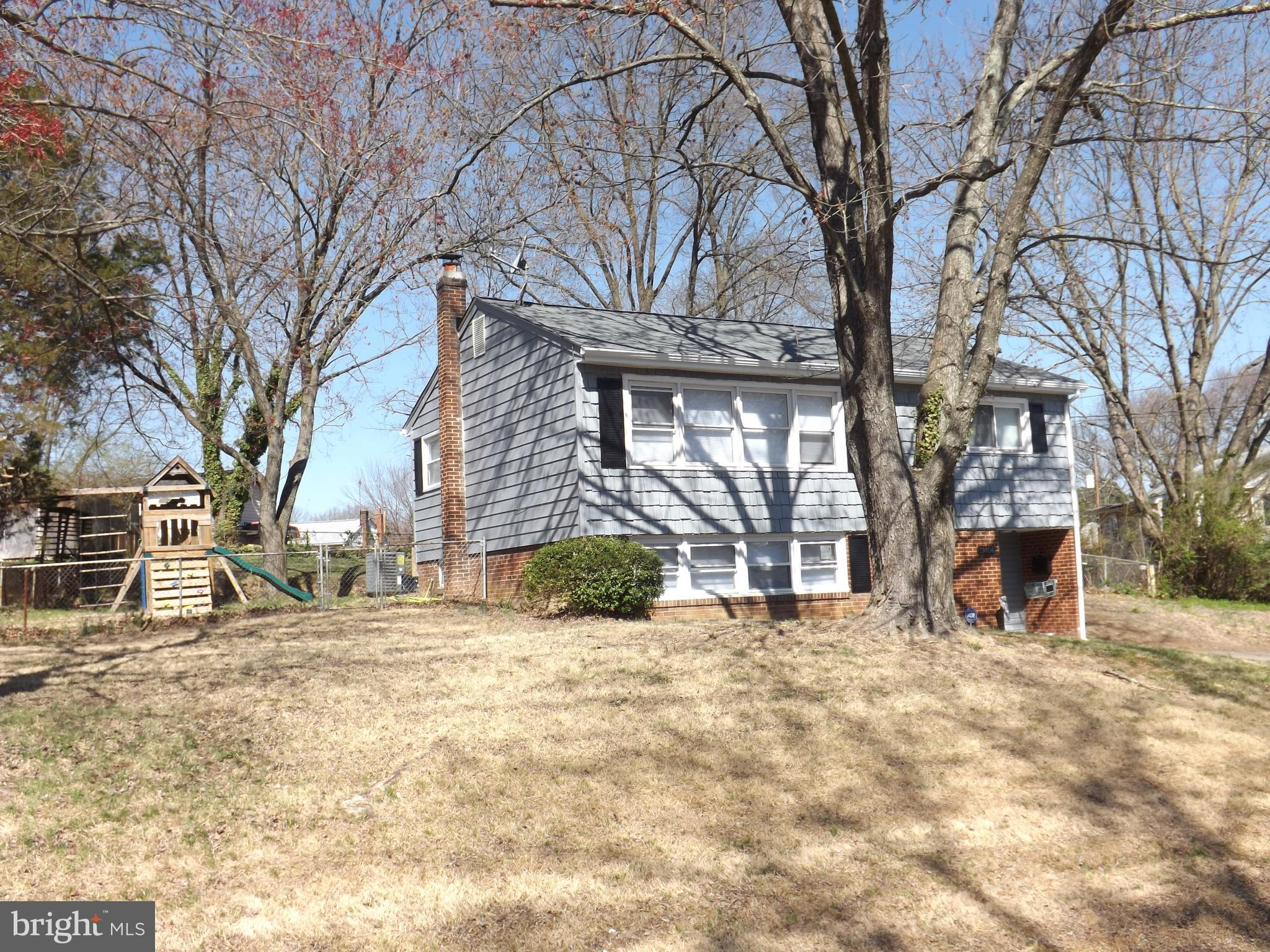 Cute Rambler - 3/4 bedrooms 2 full baths - 4th room could be used for as office/den or 4th bedroom (NTC) Large fenced in yard. NEW ROOF - Outside just painted - New flooring throughout - Freshly painted - Large deck for entertaining. 2 family rooms - Updated lighting. Come make this your new home