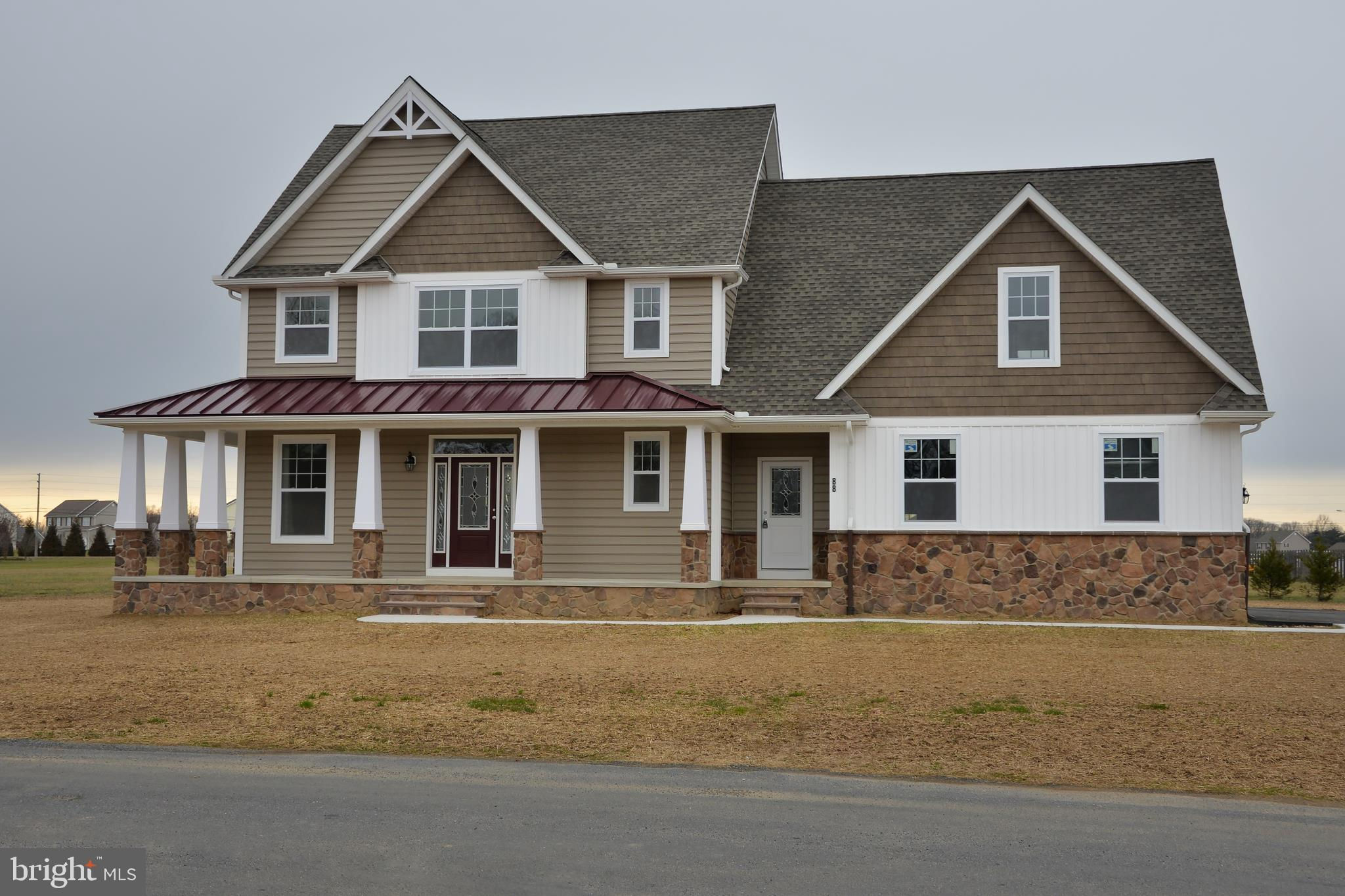"""To be built in the  community of Townsend Fields. Photo's may show upgrades. Lovely 2 story home with Second floor master, 3 additional bedrooms and 3 and half bathrooms. Home comes standard with well, septic, natural gas, concrete sidewalk, upgraded profession landscaping and stone veneer on some foundation. Interior standards include 42"""" cabinets, Cultured marble bath tops, Level A granite in the kitchen, and hardwood floors in the foyer. Tons of custom options in the beautiful home,  Call Sherrie today!"""
