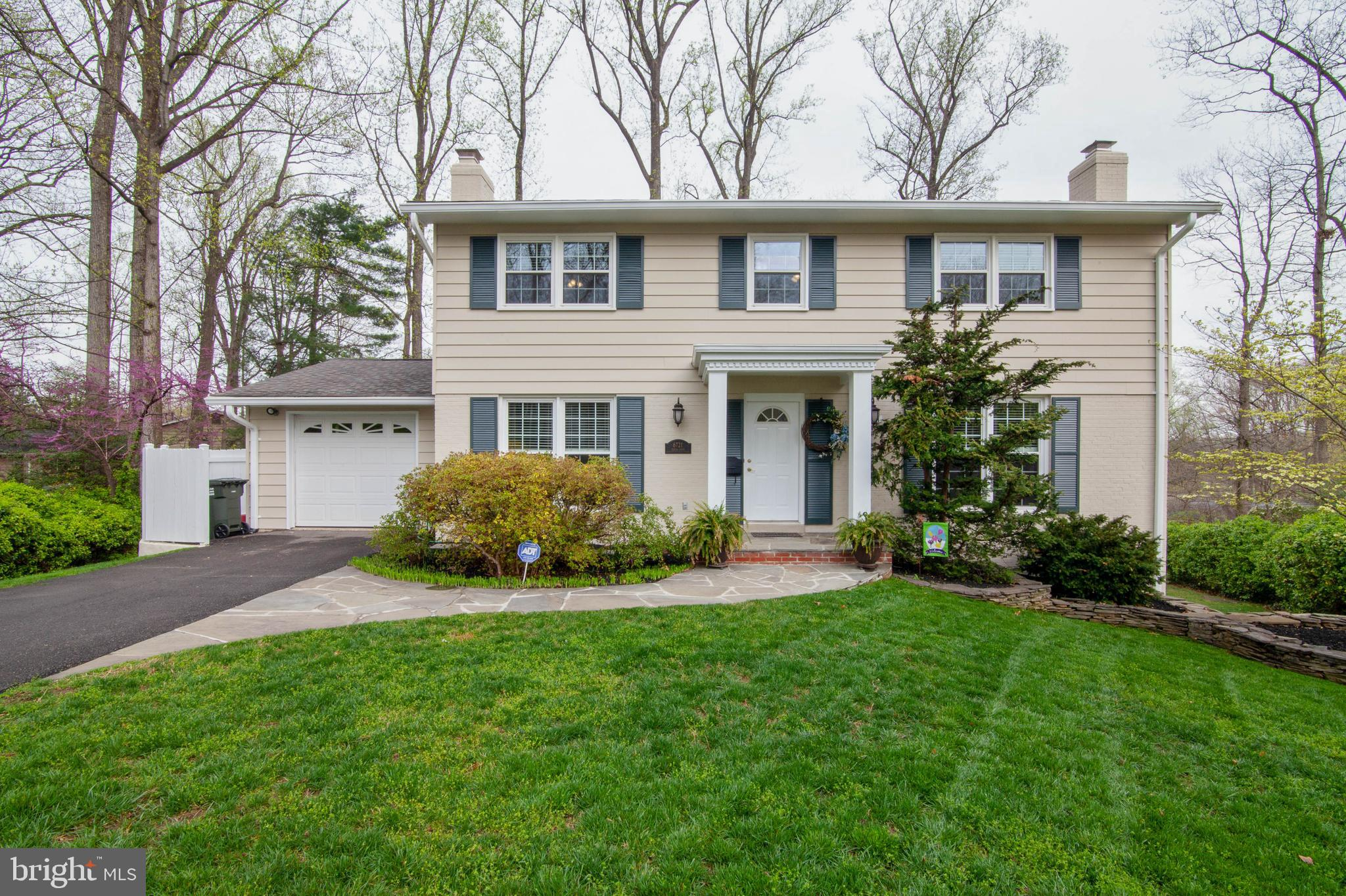 Incredible opportunity to call this charming 3 finished level Colonial your home.  Located at the end of a quiet cul-de-sac with a beautifully landscaped yard on 1/3rd of an acre.  Impressive stone walk way.  Large multi-level deck is perfect for entertaining with a Hot Tub and dedicated gas line for a grill.  If you like the outdoors and entertaining, this is ideal.  Walk out basement leads to stone patio.  5 Bedrooms.  2.5 Baths.  Exceptional upgraded cabinets and granite counters in Kitchen.  Walk in pantry.  Formal Living and Dining Rooms with wood floors.  Kitchen table space and bay window. Separate laundry room with utility sink. 1 car garage with storage.  Upgraded granite counters and tiling in bathrooms.  Large lower level recreation room walks out to back yard.  New carpets and flooring.  Office/Exercise area.  Spacious storage/utility/workshop.  Direct bus to Pentagon right at beginning of the cul-de-sac.  Close to Ft. Belvoir. Easy access to FFX Parkway and to metro.  Close to Burke and Springfield Town Center.  Close golf and county parks.  A must see!