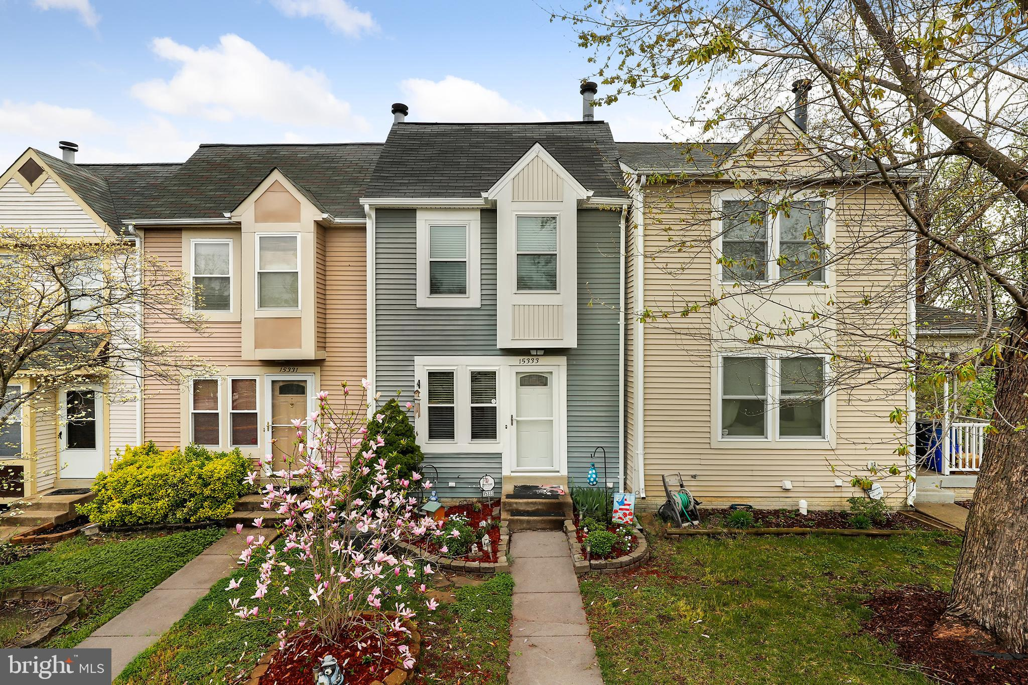 Welcome to this charming townhome close to parks, trails, river and Neabsco creek boardwalk. This beautiful home has FRESH paint, NEW windows and NEW carpet throughout! The home also features two bedrooms, two full bathrooms and a half bath. Stay warm on cold winter days by the fireplace in the living room. Enjoy your meals in the dining area beside the kitchen which features stainless steel appliances and gleaming countertops. Walkout basement could be your recreation area and leads you to the patio in the backyard. Enjoy the weather on the NEW deck on warm summer days. Don't miss this opportunity to own a home close to Rippon Landing Park, Potomac Mills Mall, commuter lots and major highways!
