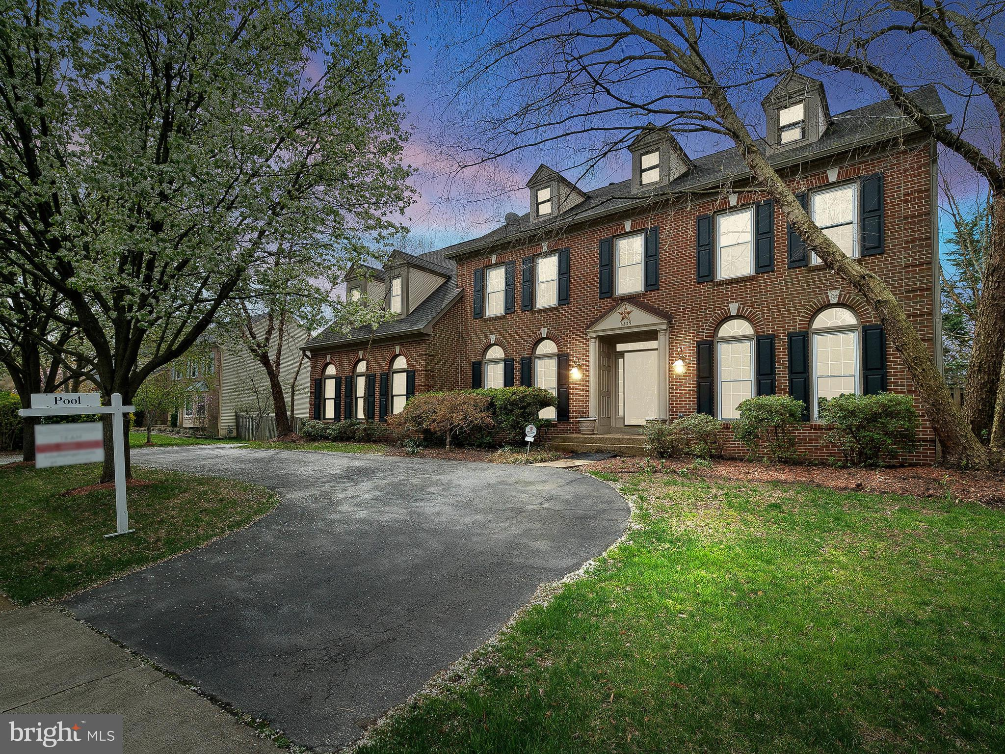 Welcome to the Durham, a rare find in the beautiful CRESTLEIGH neighborhood. This 4 level Home is zoned for the top-rated school district in Alexandria. Just 2 mins from the Metro and commuter routes into downtown D.C.  This elegant home is oozing with appeal. Guests are greeted to a spacious circular driveway. Ample parking in the driveway or 2 car garage. Entertaining just got exciting! Relax by the heated jacuzzi or swimming pool designed by Anthony & Sylvan. The main level features a sunfilled Great room with oversized windows. Cathedrals ceilings by the fireplace. Kitchen features stainless steel appliances, granite counters , Island .With over 5000 Sqft-Its perfect for Multi-family living. The upper 2 levels boast  5 large bedrooms, 6 bedrooms (NTC)  in the lower floor w-Full bath and walkout access. Master-bdrm w/high ceiling, laundry chute,  multiple en-suite baths. Features an extra large soaking tub and shower and walk-in closets.  The basement is fully finished with Bar. Rec rooms perfect for game room and Movies  Energy efficient upgrades : Siding with insulation wrap, Triple pane windows, 2 zoned HVAC, 160 gal Water heater, irrigation system newer  Gutter and Roof. Just  5-minute drive to the Wegmans Hilltop, Springfield TownCenter, Topgolf, INOVA healthplex , Military bases -Ft Belvoir and US Coast Guard Tiscom and Metro Park.