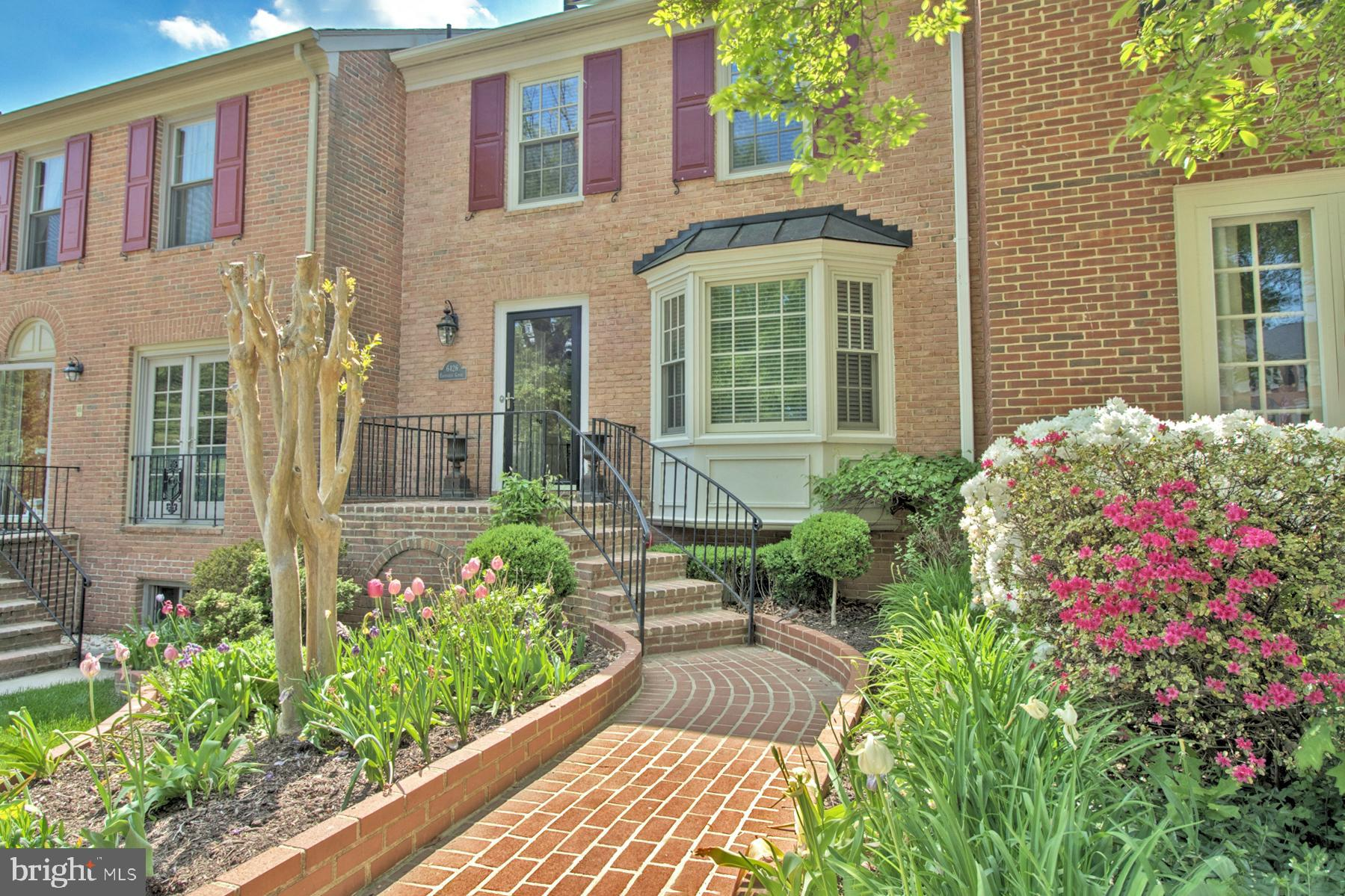Beautiful town home located in sought after Rhygate! 3 levels, 2 Fireplaces, 4 bedrooms, 2 full baths, and 2 half baths. Tile floors in kitchen, wood blinds, hardwood throughout, finished basement with 4th bedroom - walk out to brick patio and elegant landscaping all around! Adjacent to Springfield Country Club, VRE is 2 miles away, and Metro is 4 miles. VRE is only 4 stops to new Amazon National Landing, and is an incredible alternative to Metro.  Pet friendly :)