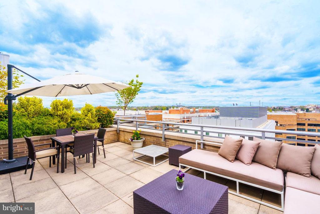 INCREDIBLE NEW PENTHOUSE LISTING- THE RITZ RESIDENCES! Open & sunlit 2BR, 2.5 BA penthouse unit w/ entry foyer, LR w/ gas fireplace & custom built-ins, formal DR, gourmet kitchen, spacious fam rm w/ access to priv. & expansive entertaining terrace w/ SUPERIOR skyline views, mstr ste w/ en-suite BA, an add'l BR w/ en-suite BA, ample closet space, & 2 car pkng! Endless amenities offered at the Ritz!