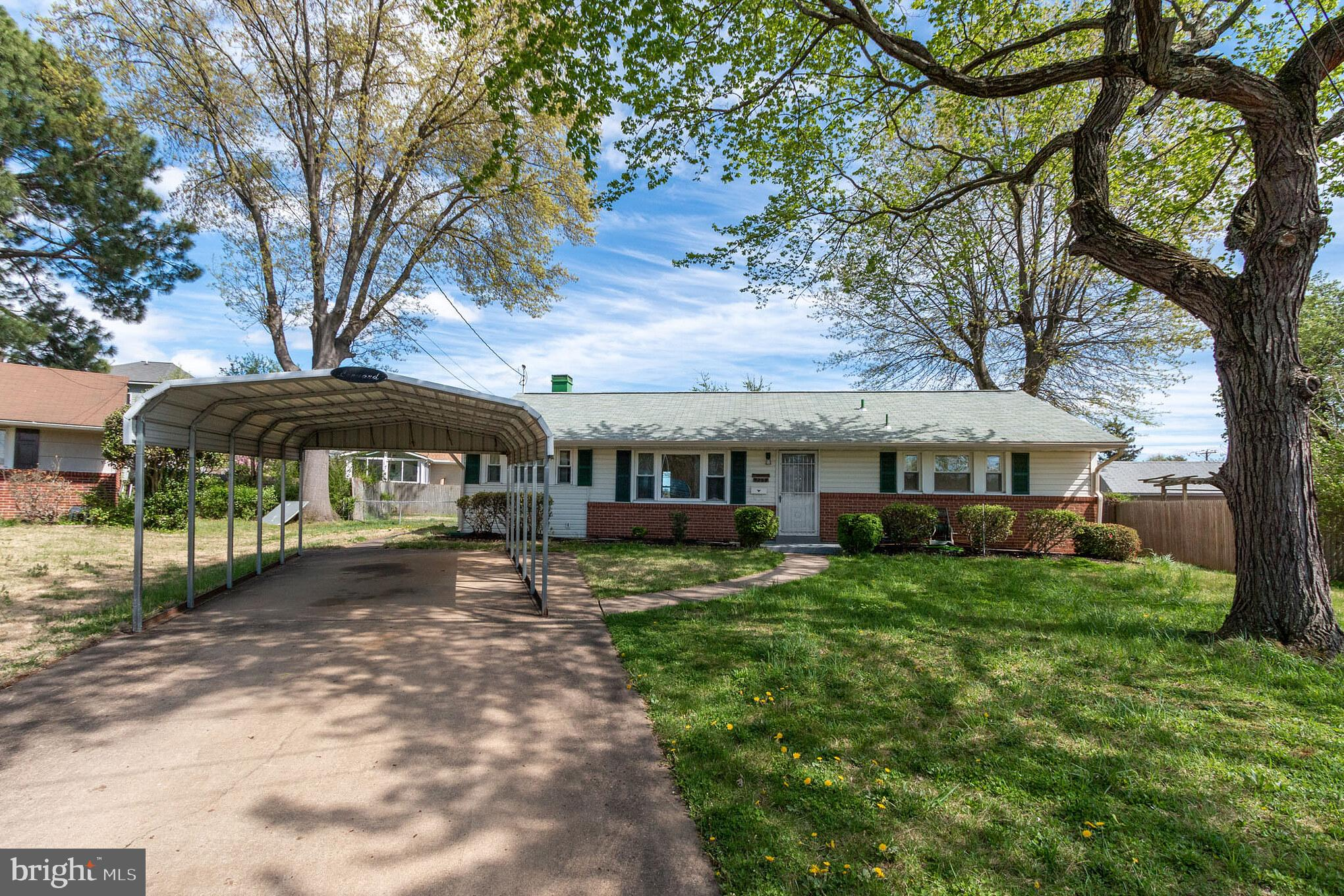 Charming renovated rambler in Hybla Valley! This lovely three-bedroom home sits at the end of a quiet, tree-lined cul-de-sac, yet is close to everything. The house features new hardwood floors and wall-to-wall carpet. The kitchen has been recently updated, with stainless steel appliances and granite countertops. An adjacent dining area includes a ceiling fan, with a window that looks out on a sizeable, fenced-in back yard. Other updates to the home include a new 50-gallon water heater, new HVAC system, and new roof. Close to several dining and shopping options, with easy access to Rt. 1, the Beltway, Old Town Alexandria, Reagan National Airport, and more.