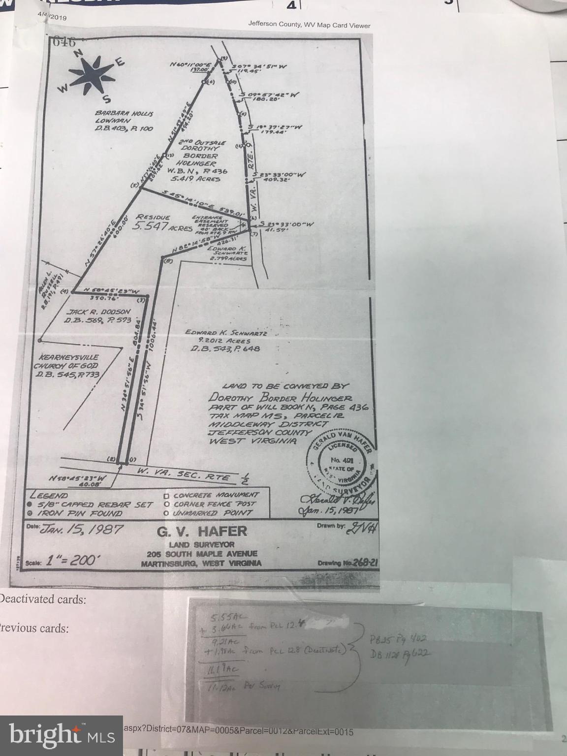 BORDER ROAD, KEARNEYSVILLE, WV 25430