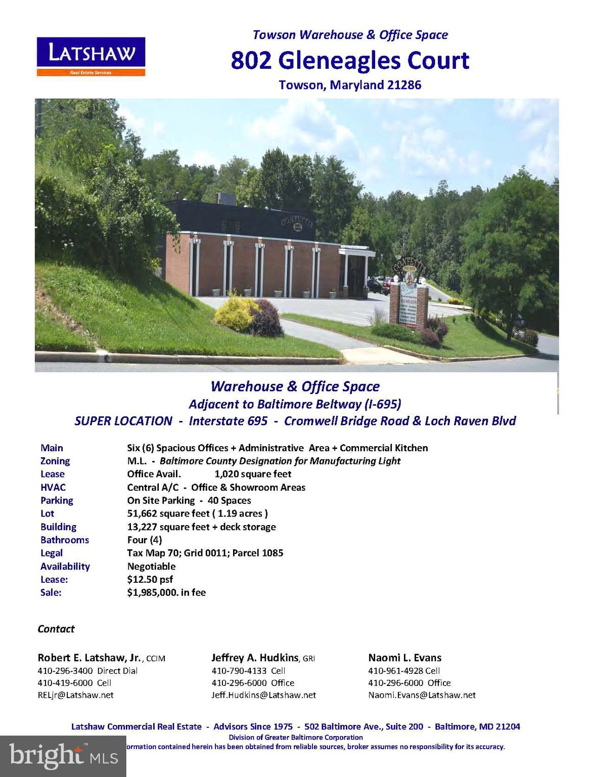 802 GLENEAGLE COURT, TOWSON, MD 21286