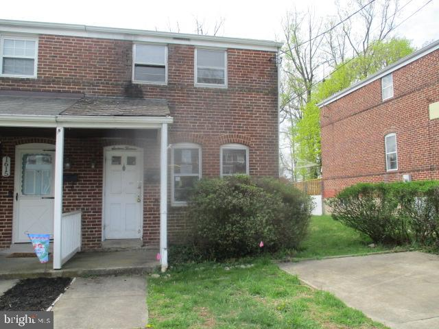 This Duplex offers off street parking and huge fenced in rear yard yard. Open floor plan on main level has hardwood floors in living room. Eat in kitchen opens to rear addition for added space. Upper level has 2 bedrooms and full bath. Full basement has utility area, laundry area & lots of storage space. Close to Towson area ,schools , colleges and shopping. Easy access to downtown and 695. Agents view agent remarks and documents uploaded on this mls. OPENS TO INVESTORS 5.3