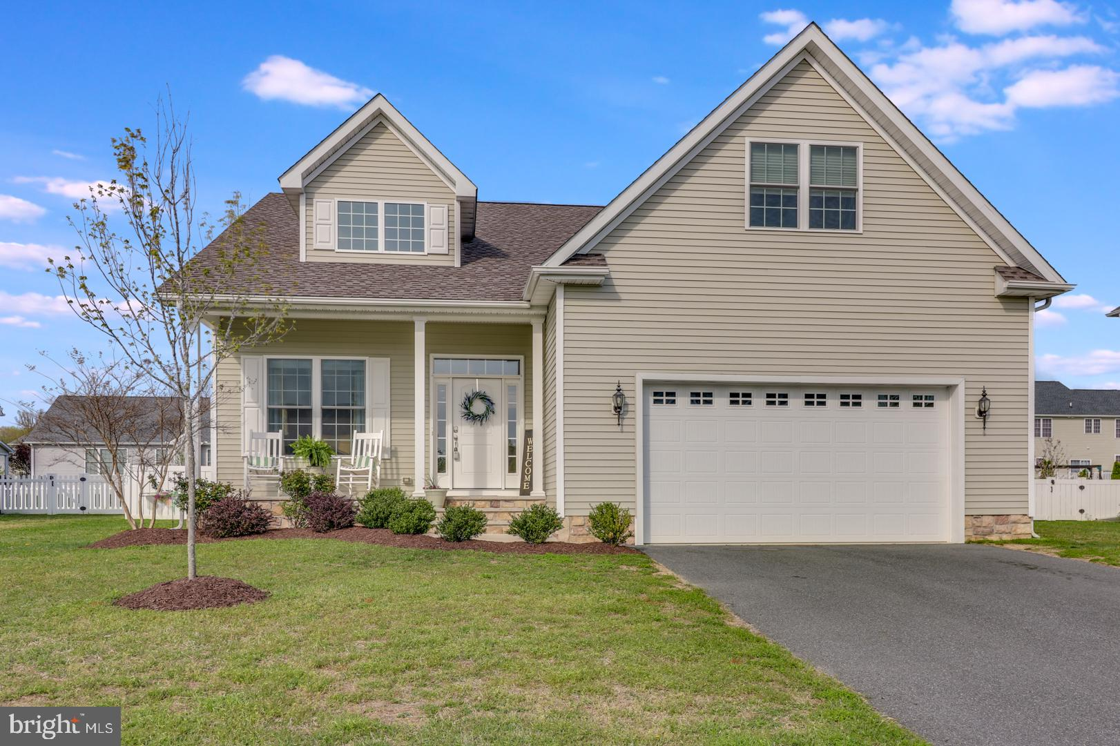 WOW!  MAIN FLOOR LIVING in an elegant C&M built custom home in the highly sought after Laureltowne development in the heart of the Caesar Rodney School District.  This 3-year young home is only available due to a work transfer and captures all the value of a two-story home, but with all the convenience of a rancher.  Check out the 3-D virtual tour and see for yourself~this one will go in a flash!  The master suite is sure to impress with a 5' x 11' walk-in closet and a spacious master bathroom complete with a linen closet, a spa tub, and a 5' tiled shower.  The home boasts an abundance of upgrades along with a cathedral ceiling in the great room and you'll be pleasantly surprised to find large walk-in closets in nearly every room in the house.  The main level features a contemporary open-concept where entertaining is sure to be a breeze.  The home flows nicely to the outdoor living space, so whether a relaxing evening for two or a crowd of 20, it'll be easy to enjoy the fire pit on the nice paver patio with an abundance of peace and quiet from the recently constructed privacy fence.  When it's time to turn in for the evening, your guests will have plenty of space to call their own with three large bedrooms on the second level and a bonus room that can take on any role...think office, library, craft room, play area, man-cave, etc.  There is no shortage of living space in this home, but for anyone longing for more, there is a full 9' basement just waiting to be finished into anything you can imagine.~ Don't miss this awesome opportunity...get it on your tour today!