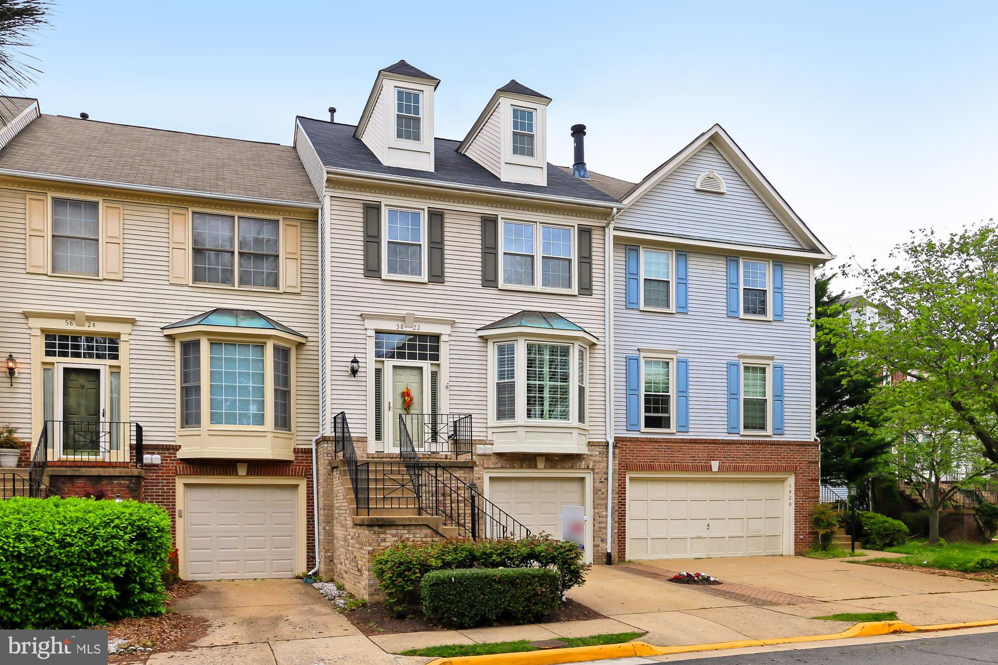 Beautifully upgraded townhome located in the heart of Kingstowne community. Popular EASTON II model with loft.  The property features three bedrooms, three full and one half baths, spacious master suite with loft, two gas fireplaces. One car garage with full driveway.  Spacious deck overlooking trees- privacy in the back. Owners upgrades include: new roof (2018), HVAC (2015), all new Thompson Creek windows and door, plantation shutters, stainless steel appliances, new garage door and motor (2017), hardwoods throughout, maintenance free deck, custom built ins, security system, fresh neutral paint throughout, brick patio. Both TV convey. Perfect move in condition!!!