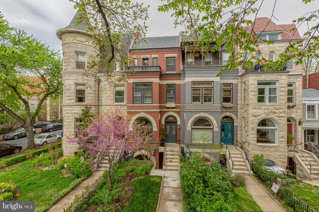 This stunning historic home originally built in 1896 has been restored, renovated, and re-imagined over the past 12 months.  Located one block from Lincoln Park on the Capitol side, this 4,066 square foot home on East Capitol is on one of the most sought-after streets in DC.  Features include 5 ~ 6 bedrooms, 4.5 baths, a large kitchen with custom cabinetry, ample preparation space, quartz counters, integrated Subzero and Wolf appliances, and lots of daylight with a floor to ceiling glass enclosure leading to a rear balcony and patio area.  A private master suite includes a large walk in closet and luxurious marble master bath with dual vanities and freestanding soaking tub.  A fully finished lower level includes a spacious and open TV/den/recreation room and wet bar with Subzero beverage refrigerator, full bathroom, and office or additional bedroom (Optional apartment).  Updates include high-efficiency heat and air conditioning systems with four zones, hidden wiring for cable/internet capability, sound proofing, updated electrical and plumbing, large closets throughout for storage, LED adjustable lighting, two laundry areas, and a roof deck with recessed enclosure offering sweeping views of the Capitol.  Restored features include transom windows, staircases and balustrades, original old growth hardwood flooring, and front balcony on the top floor.  Additional elements include large exterior windows with transoms and bay windows, high 9-foot ceilings, and marble baths.  The house is an easy stroll to Barrack~s Row, Eastern Market, Metro, the Capitol complex, and the Supreme Court. Rental parking available.  For more information, visit: 902eastcapitol.com.