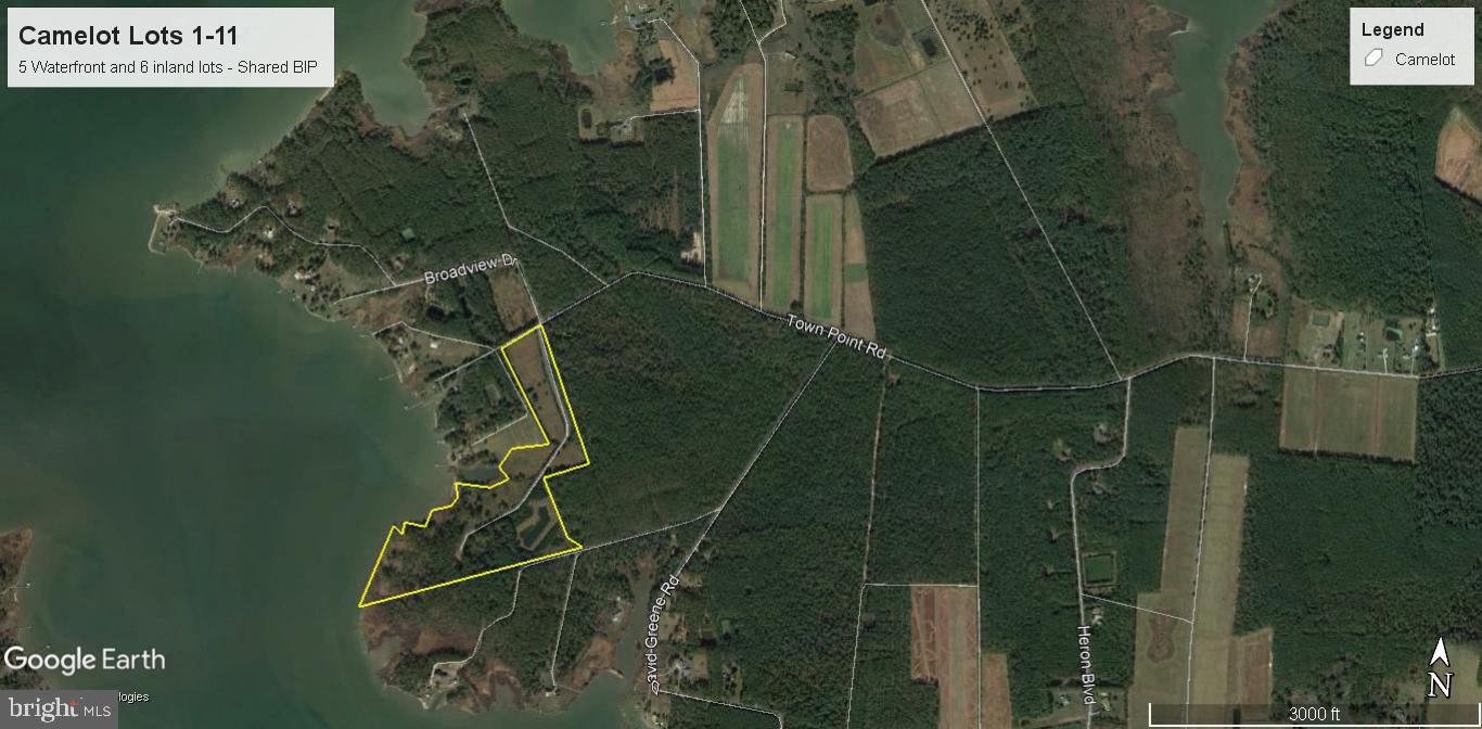 Excellent opportunity to own an Approved 11 lot subdivision (5-WF lots and 6-inland lots).  Approved shared BIP in place, and county maintained road.  Breath taking views across Fishing Creek/Little Choptank from the Waterfront lots.  Seller is working on C&R's, and will consider selling lots if no one come forward and purchases the entire subdivision.